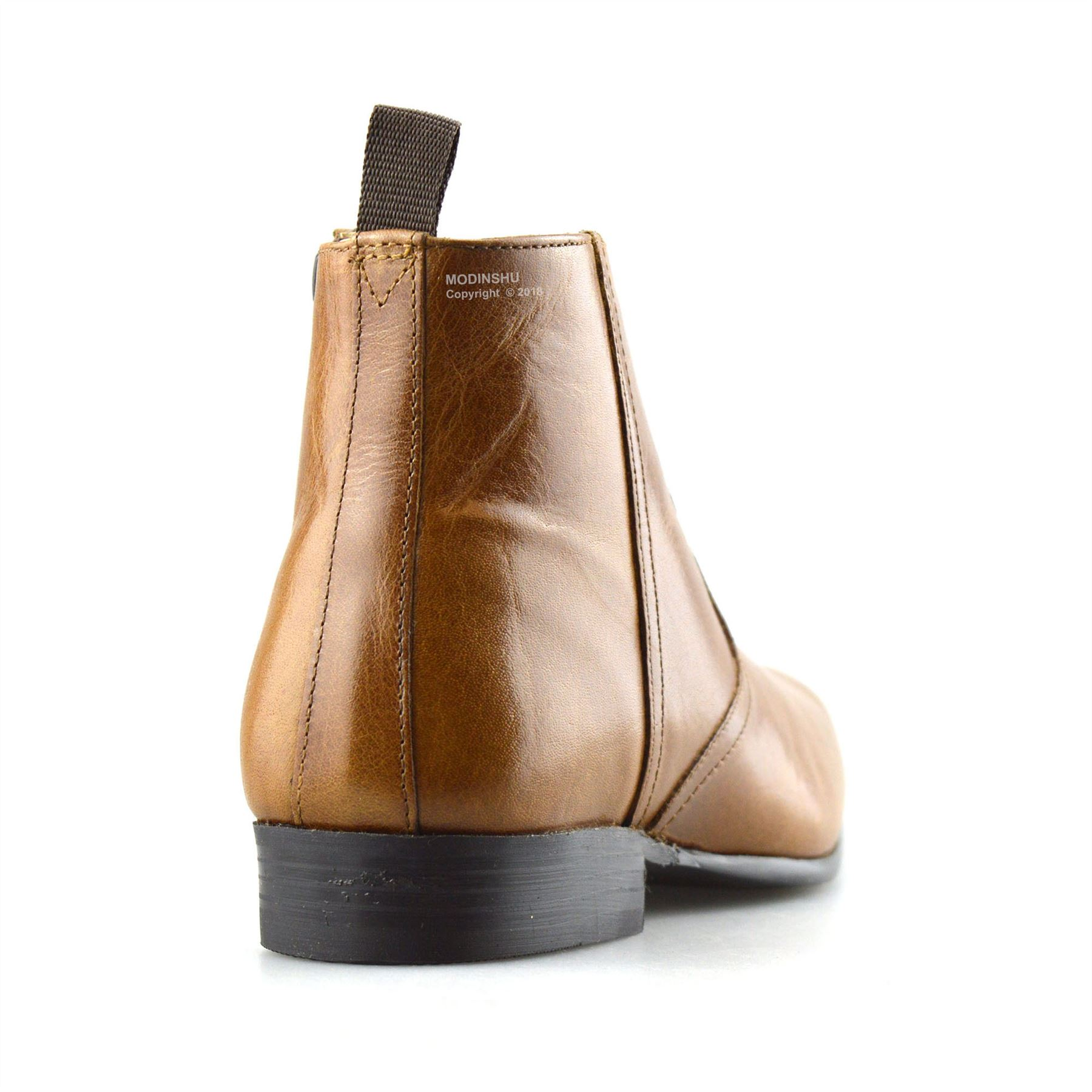 Mens-New-Leather-Zip-Up-Smart-Formal-Chelsea-Dealer-Work-Ankle-Boots-Shoes-Size thumbnail 24