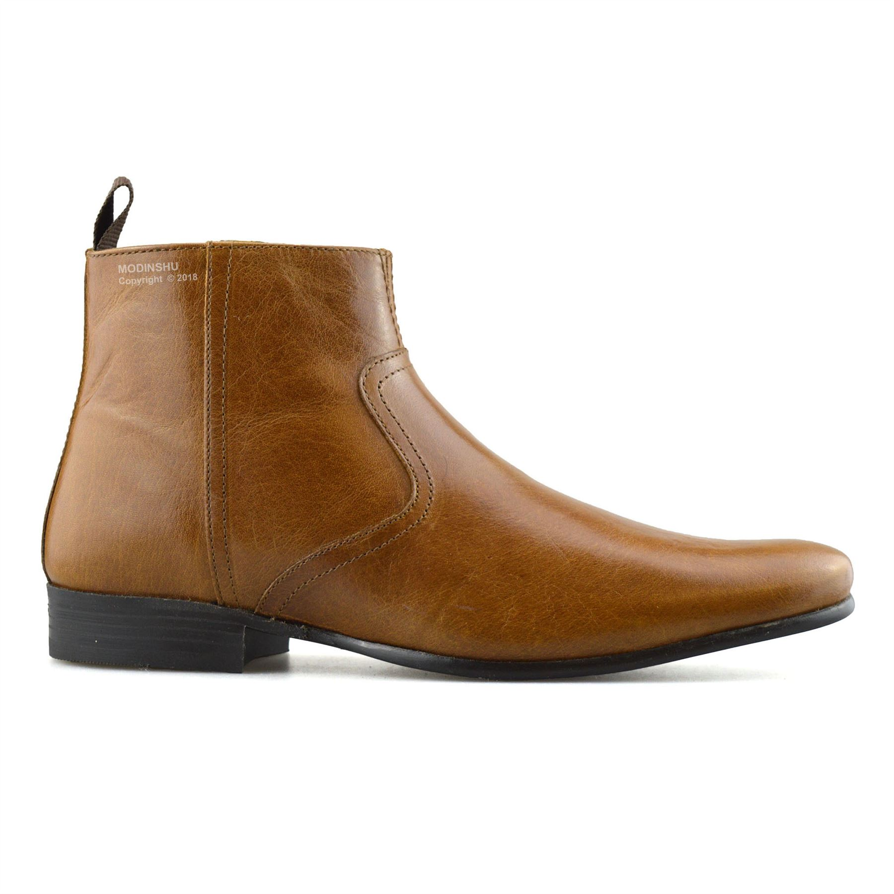 Mens-New-Leather-Zip-Up-Smart-Formal-Chelsea-Dealer-Work-Ankle-Boots-Shoes-Size thumbnail 23