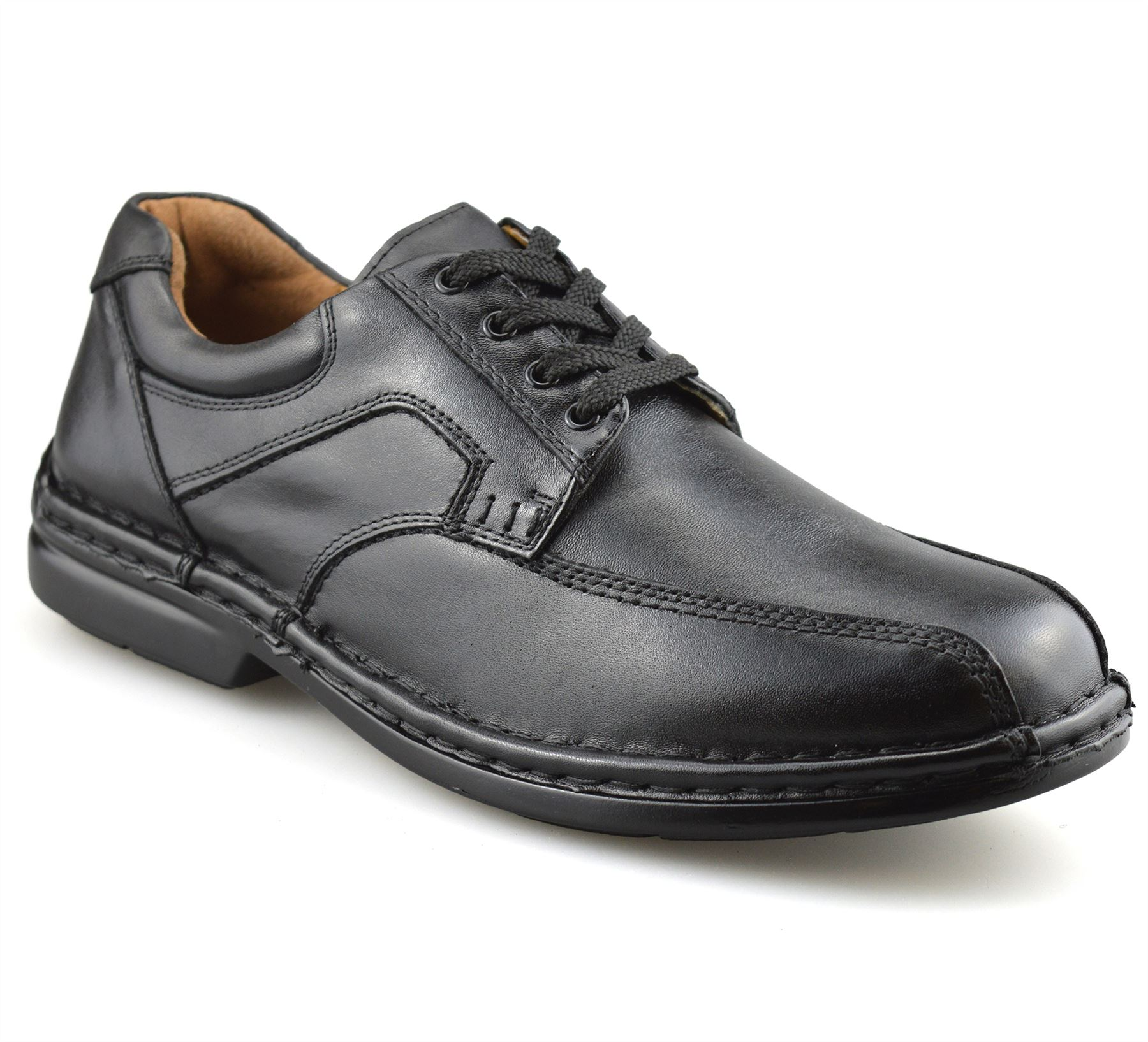 Mens-Hush-Puppies-Leather-Wide-Fit-Smart-Casual-Lace-Up-Work-Office-Shoes-Size thumbnail 9