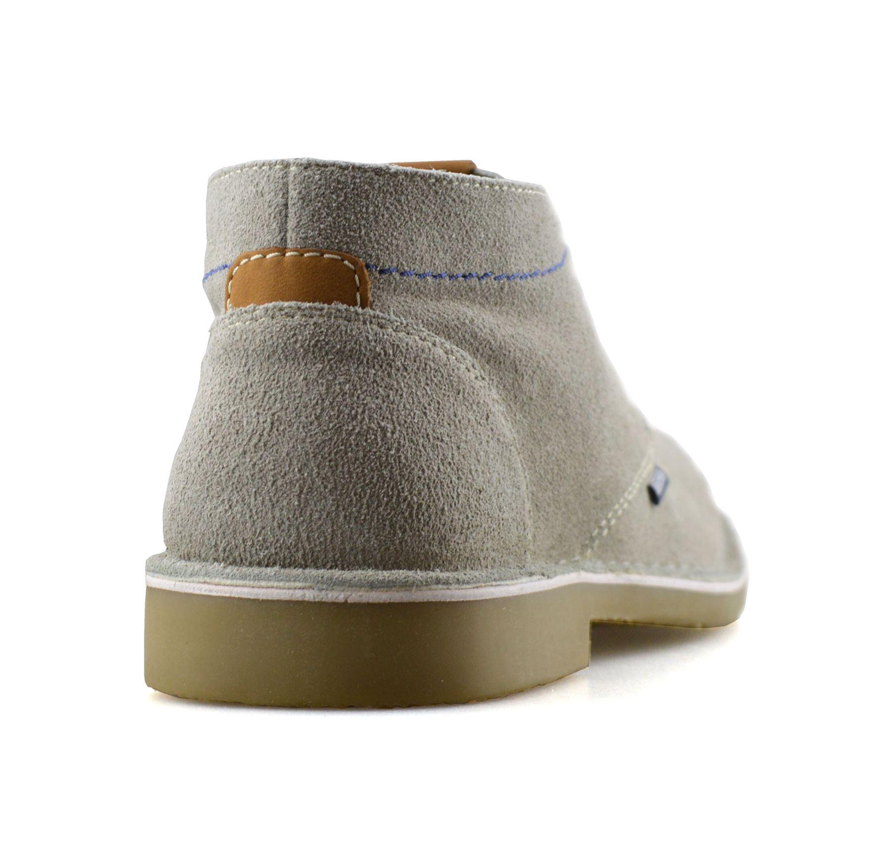 Homme-Lambretta-Cuir-Daim-Decontracte-Chukka-a-Lacets-Desert-Bottes-Chaussures-Taille miniature 9