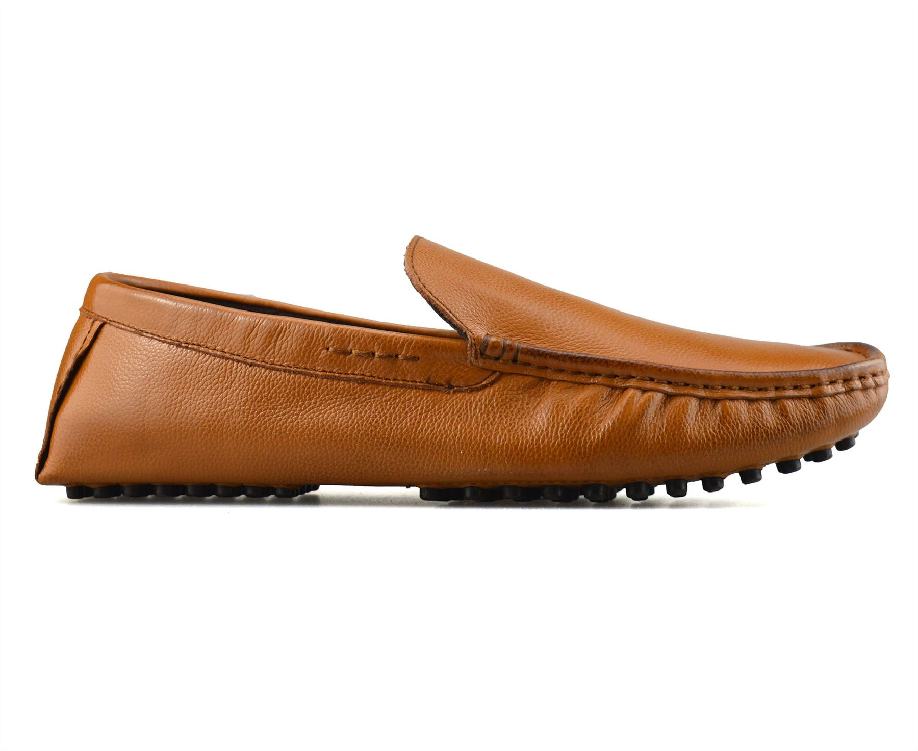Mens-Leather-Slip-On-Casual-Smart-Loafers-Mocassin-Designer-Driving-Shoes-Size thumbnail 11