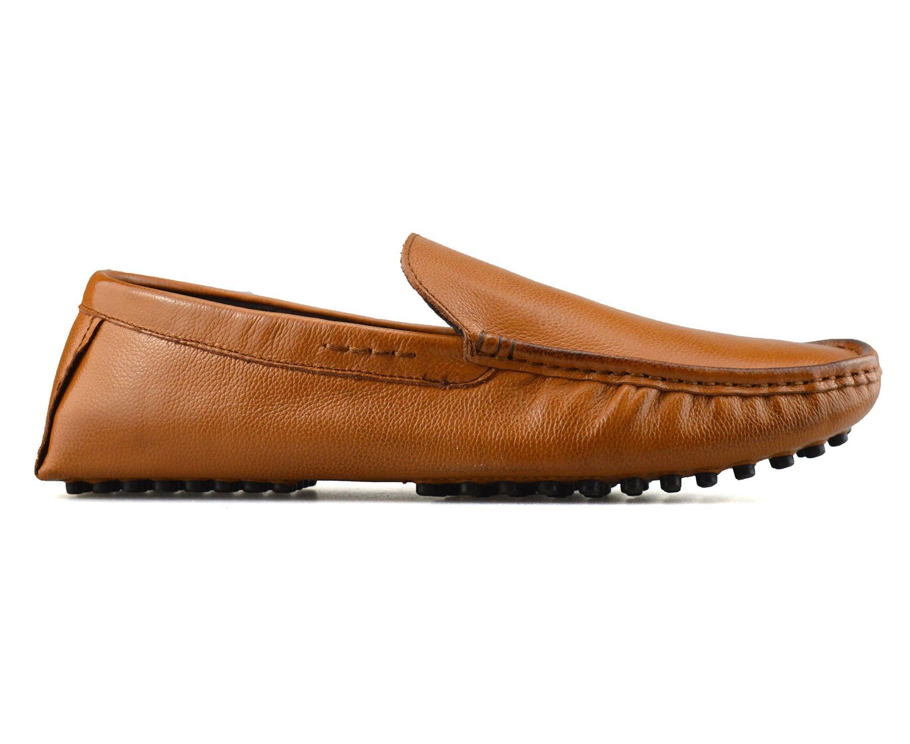 Homme-en-Cuir-Slip-On-Casual-Smart-Mocassins-Mocassin-Homme-Conduite-Chaussures-Taille miniature 11