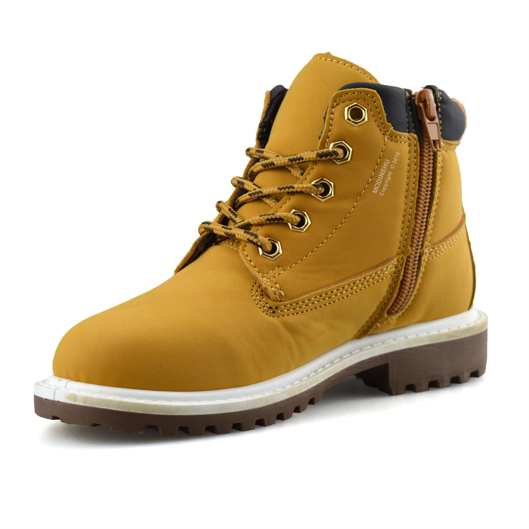 Boys-Kids-New-Casual-Zip-Lace-Up-Winter-Walking-Ankle-Boots-Trainers-Shoes-Size thumbnail 21