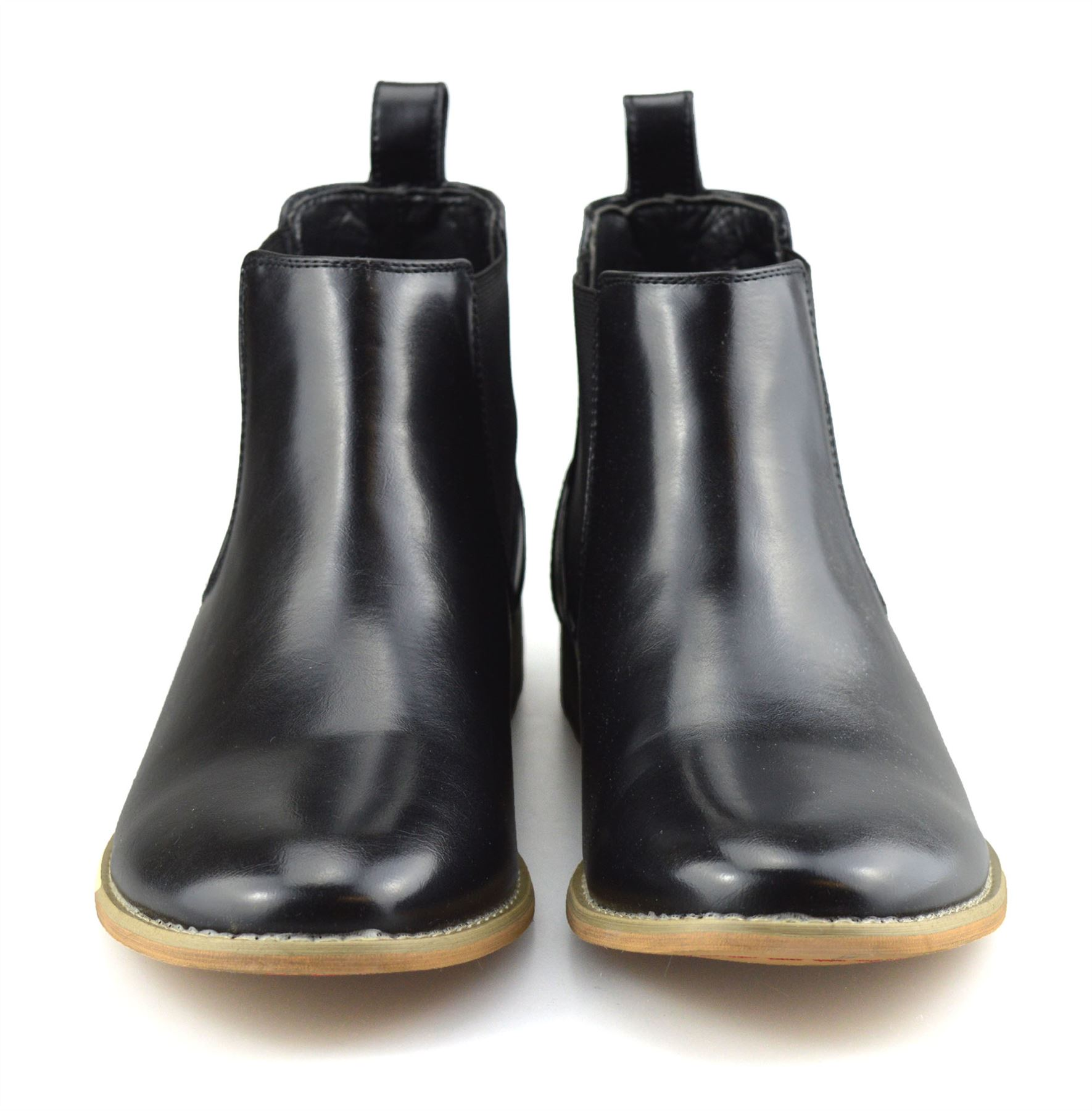 Mens-Memory-Foam-Chelsea-Ankle-Boots-Casual-Smart-Formal-Dealer-Work-Shoes-Size thumbnail 16