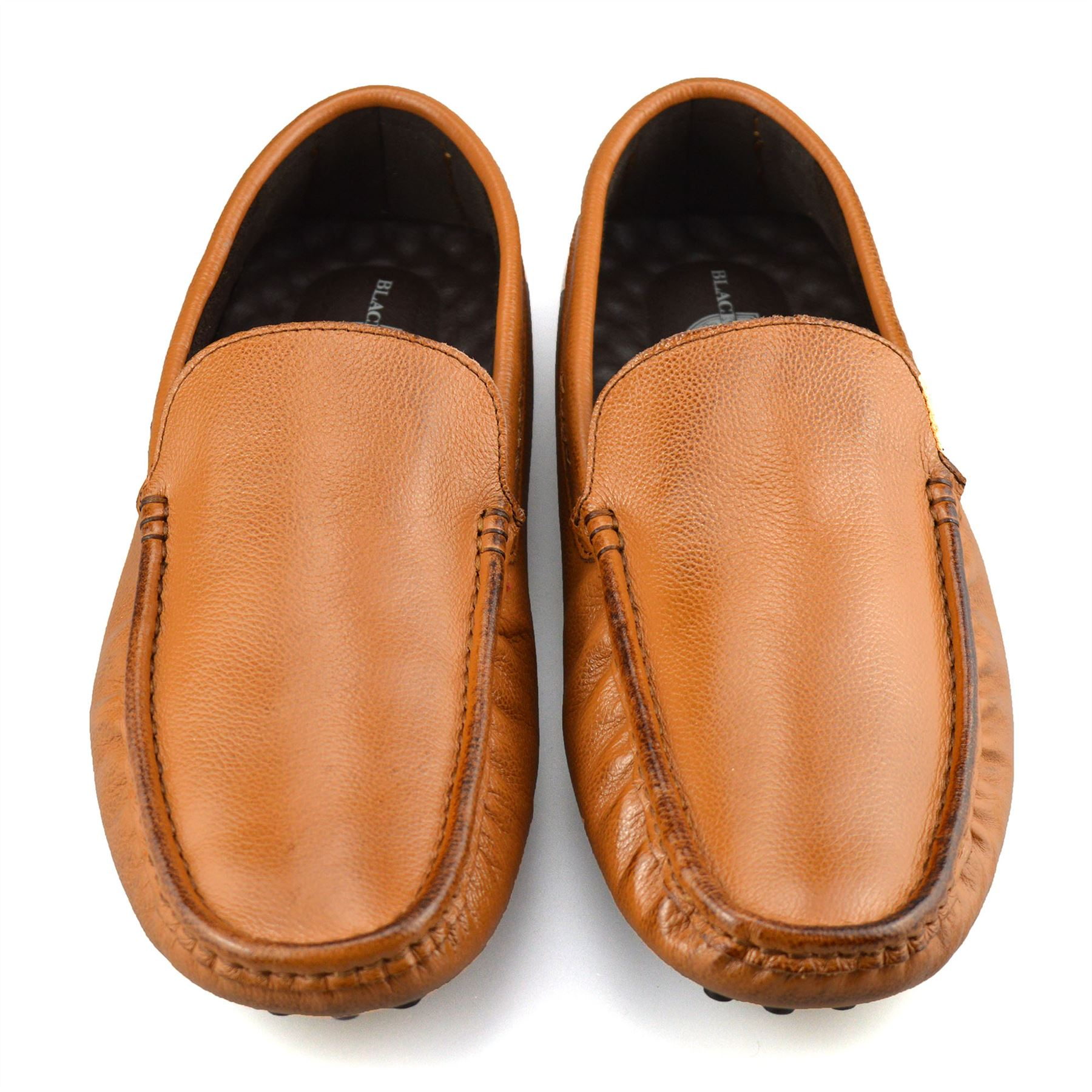Mens-Leather-Slip-On-Casual-Smart-Loafers-Mocassin-Designer-Driving-Shoes-Size thumbnail 15