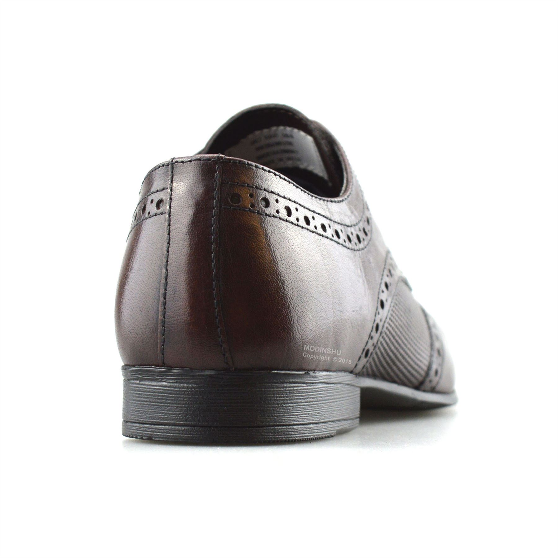 Mens-Leather-Lace-Up-Brogues-Smart-Formal-Office-Casual-Oxford-Brogue-Shoes-Size thumbnail 11