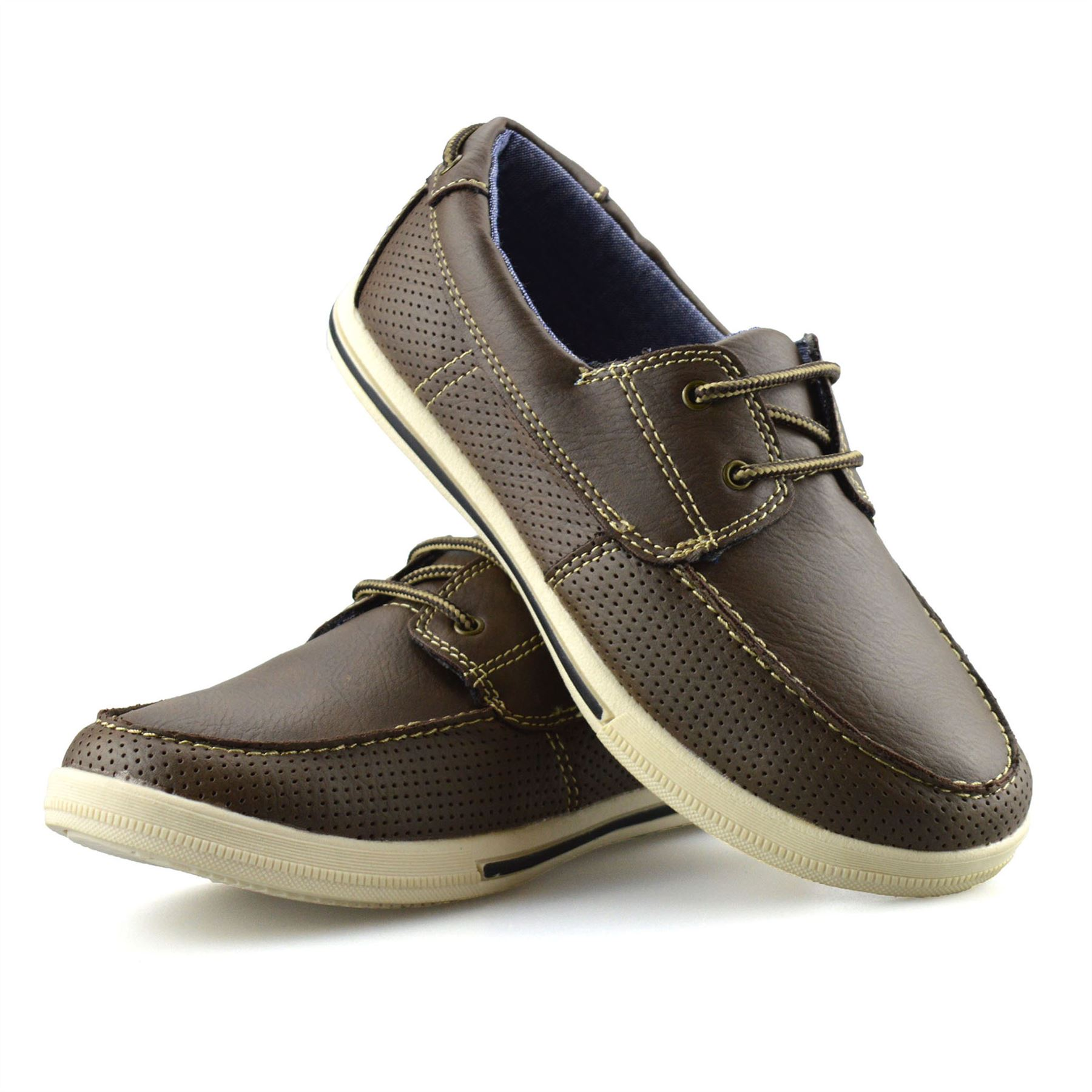 Boys-Kids-Casual-Summer-Lace-Up-Smart-Walking-School-Trainers-Boat-Shoes-Size thumbnail 12