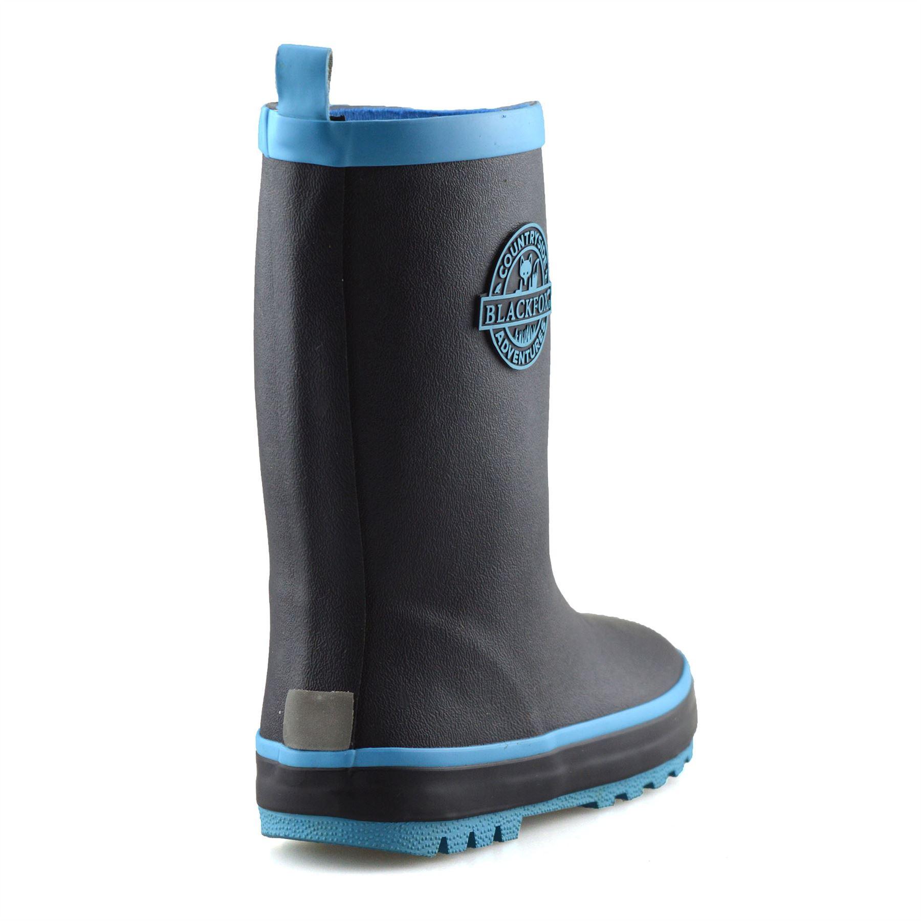Boys Girls Kids Waterproof Wellies Winter Rain Snow Wellingtons Boots Shoes Size