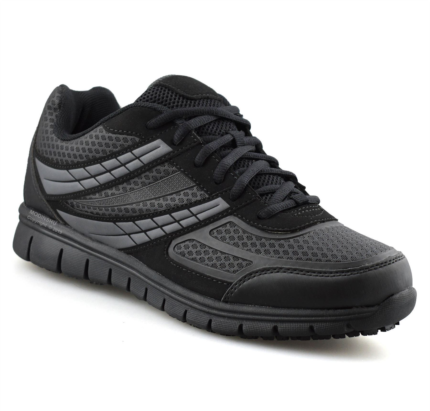 Mens-Casual-Lace-Up-Non-Slip-Memory-Foam-Walking-Hiking-Work-Trainers-Shoes-Size thumbnail 10