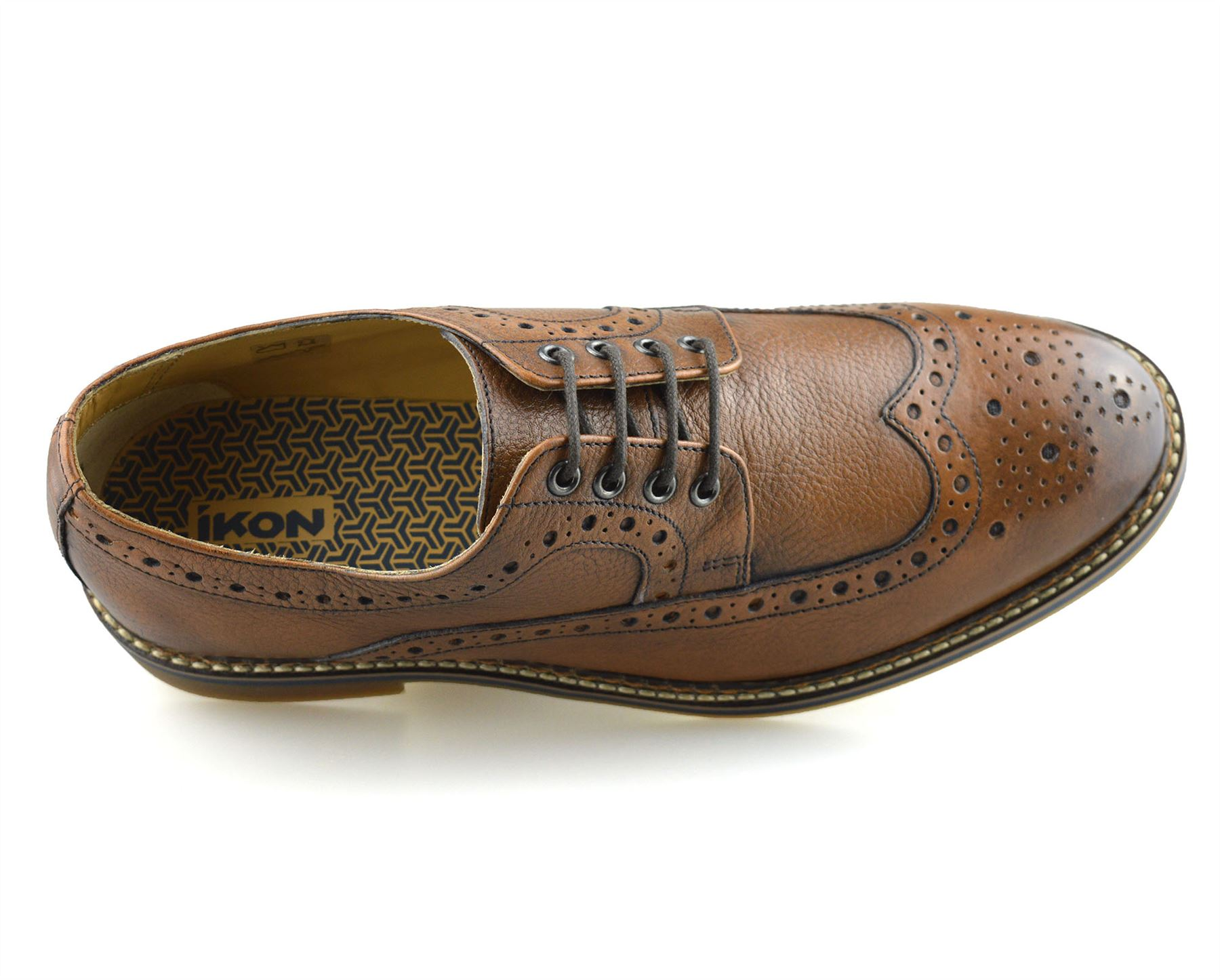 Mens-New-Ikon-Leather-Casual-Smart-Lace-Up-Oxford-Brogues-Work-Office-Shoes-Size thumbnail 17