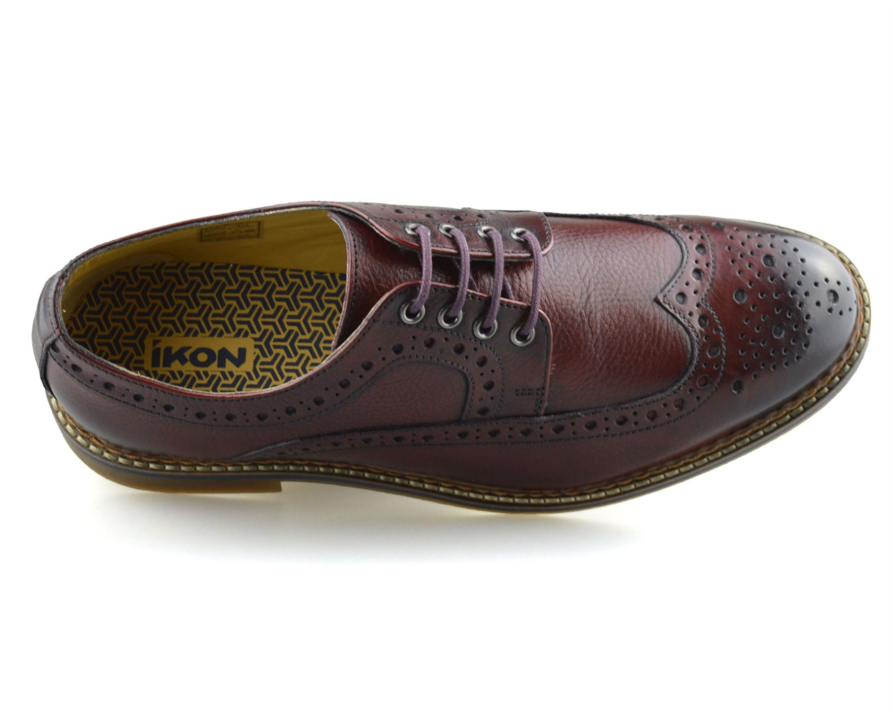 Mens-New-Ikon-Leather-Casual-Smart-Lace-Up-Oxford-Brogues-Work-Office-Shoes-Size thumbnail 29