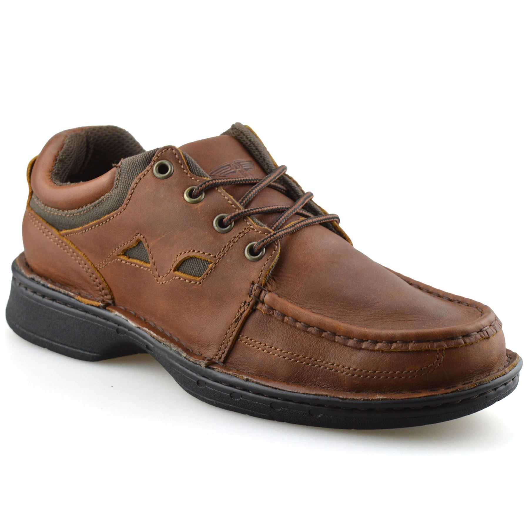 Mens-Leather-Casual-Smart-Lace-Up-Walking-Work-Moccasin-Driving-Boat-Shoes-Size thumbnail 8