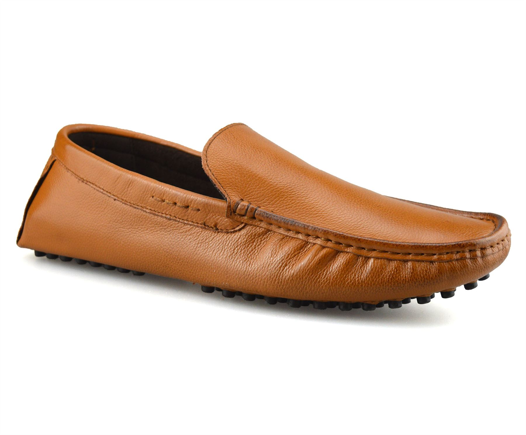 Mens-Leather-Slip-On-Casual-Smart-Loafers-Mocassin-Designer-Driving-Shoes-Size thumbnail 10