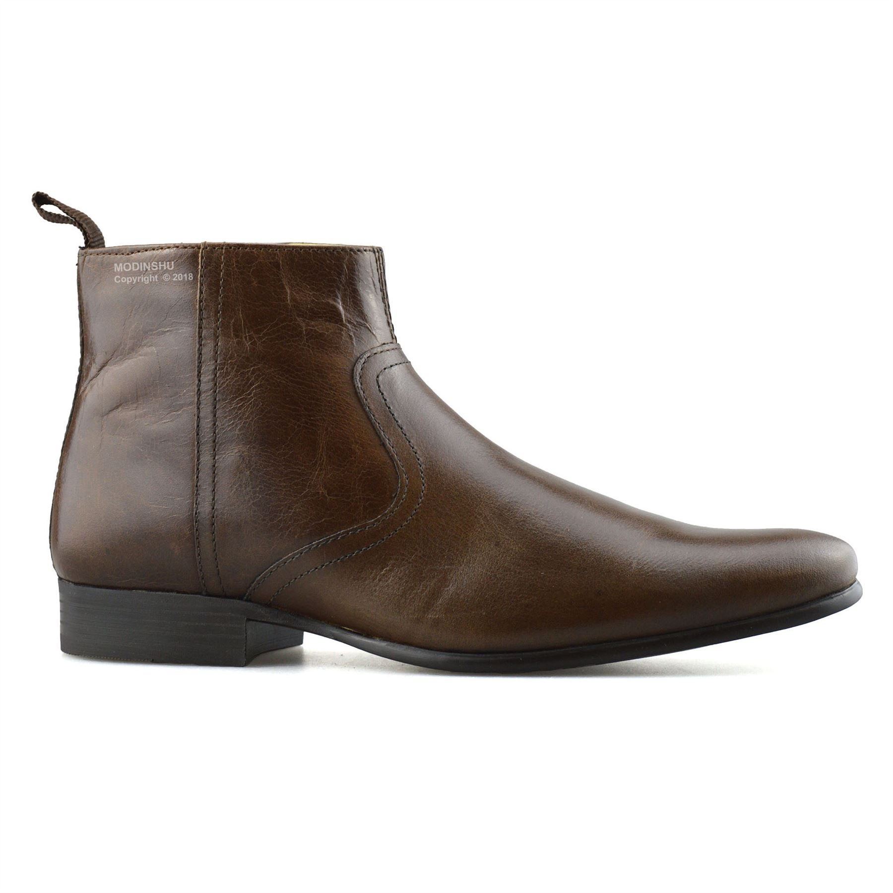 Mens-New-Leather-Zip-Up-Smart-Formal-Chelsea-Dealer-Work-Ankle-Boots-Shoes-Size thumbnail 17