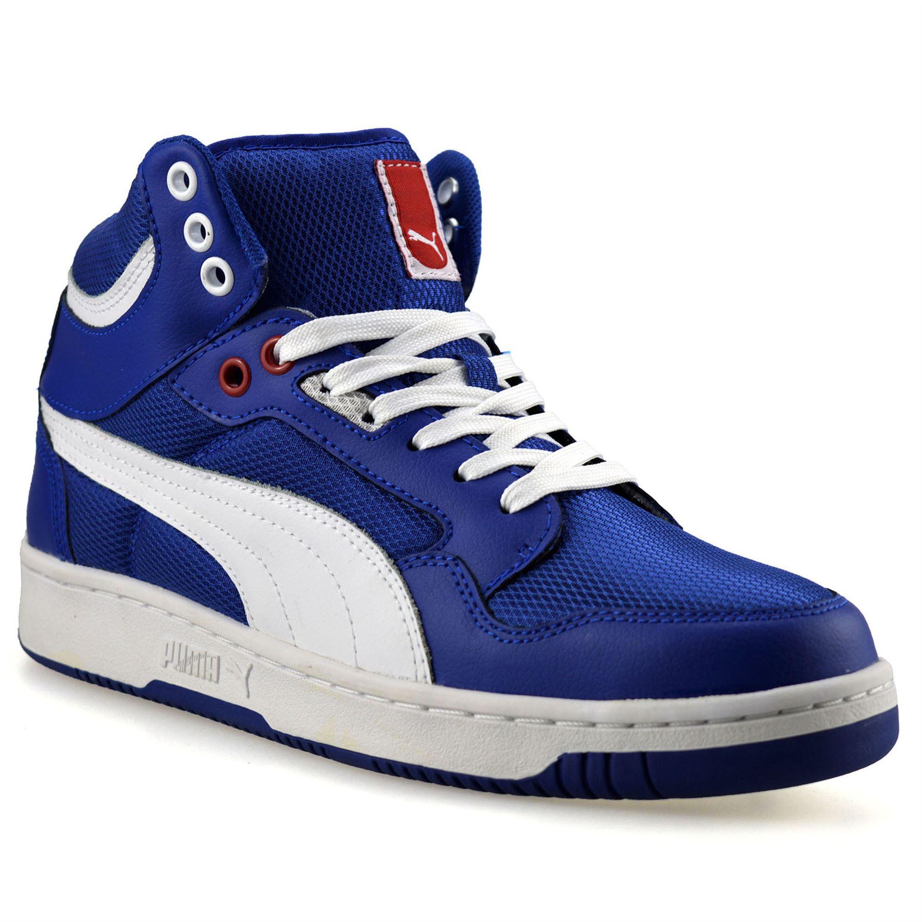 Detalles de Cuero al tobillo para Hombre Puma Rebound Mid Hi Tops Zapatillas Zapatos de baloncesto Skate Talla ver título original