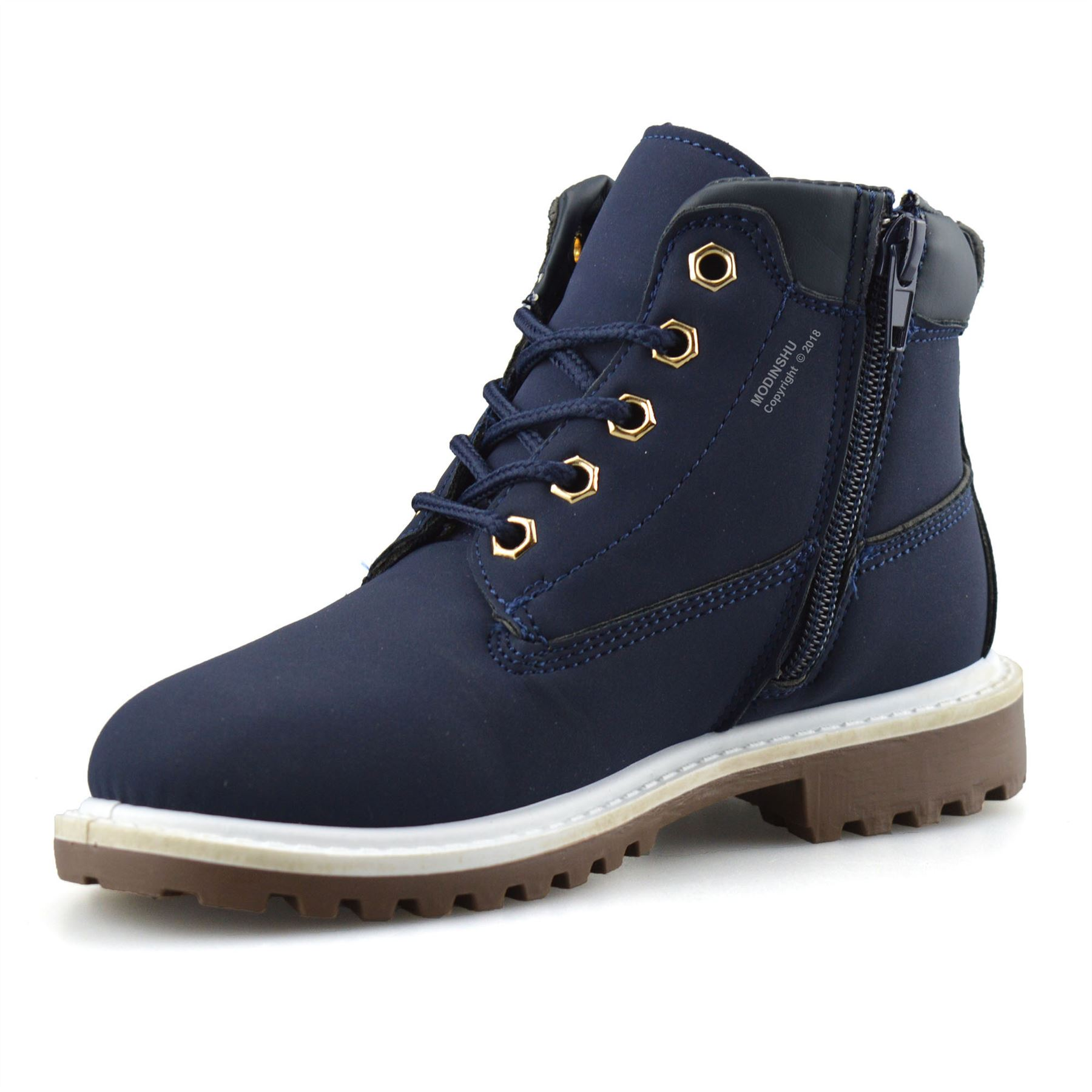Boys-Kids-New-Casual-Zip-Lace-Up-Winter-Walking-Ankle-Boots-Trainers-Shoes-Size thumbnail 15