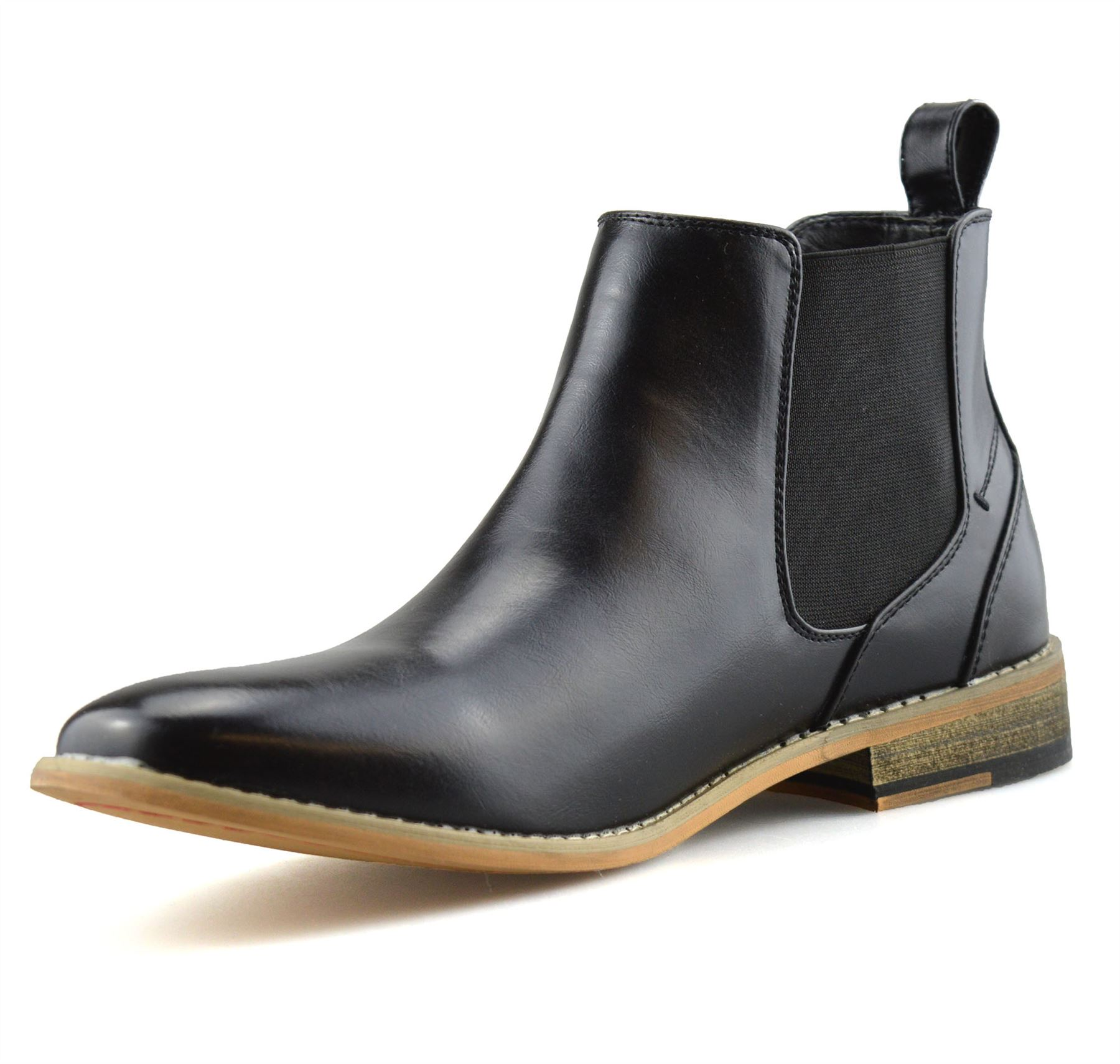 Mens-Memory-Foam-Chelsea-Ankle-Boots-Casual-Smart-Formal-Dealer-Work-Shoes-Size thumbnail 13