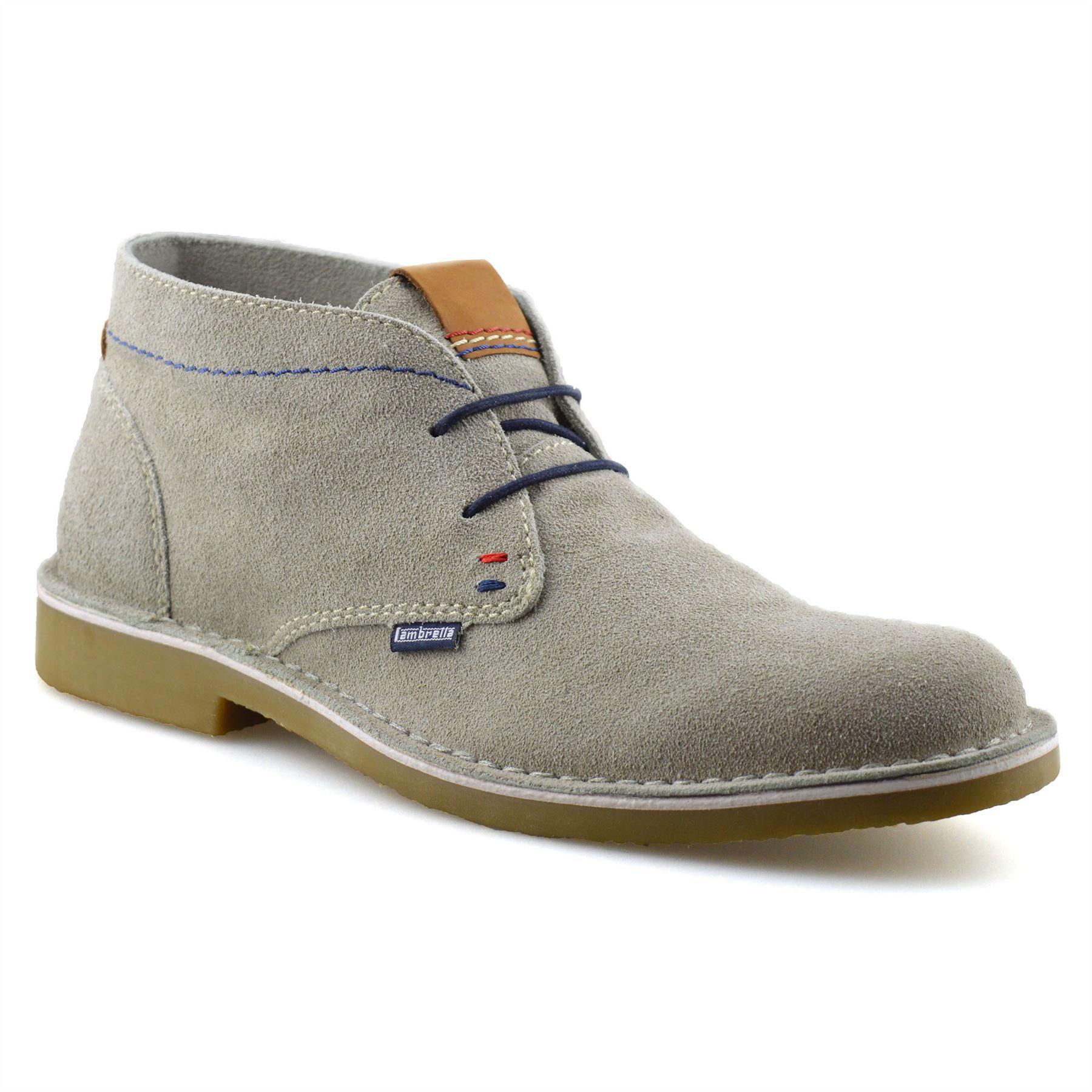 Homme-Lambretta-Cuir-Daim-Decontracte-Chukka-a-Lacets-Desert-Bottes-Chaussures-Taille miniature 7