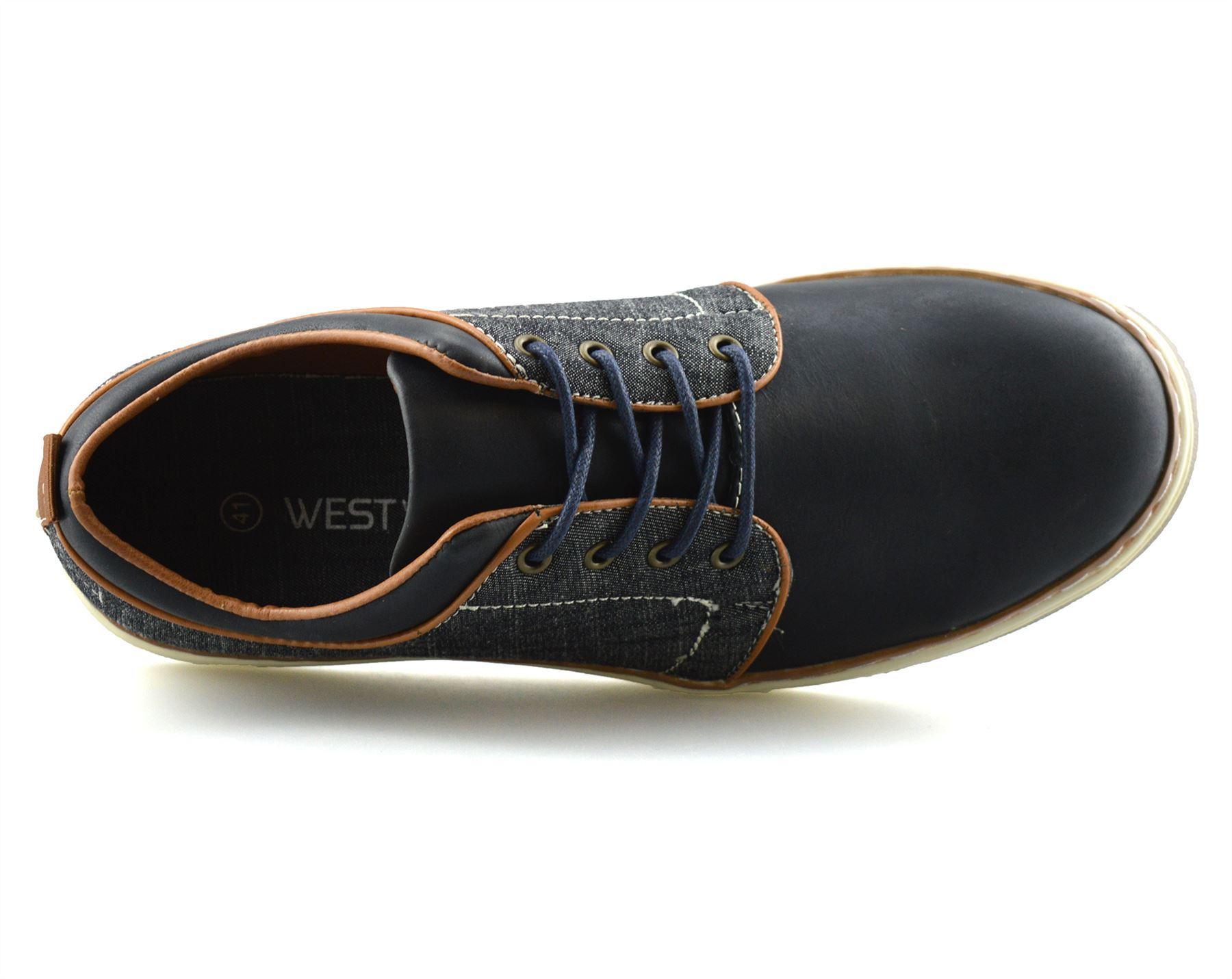 Homme-Nouveau-Casual-Smart-bateau-pont-Mocassin-Walking-Driving-Work-Lace-Up-Chaussures-Taille miniature 16