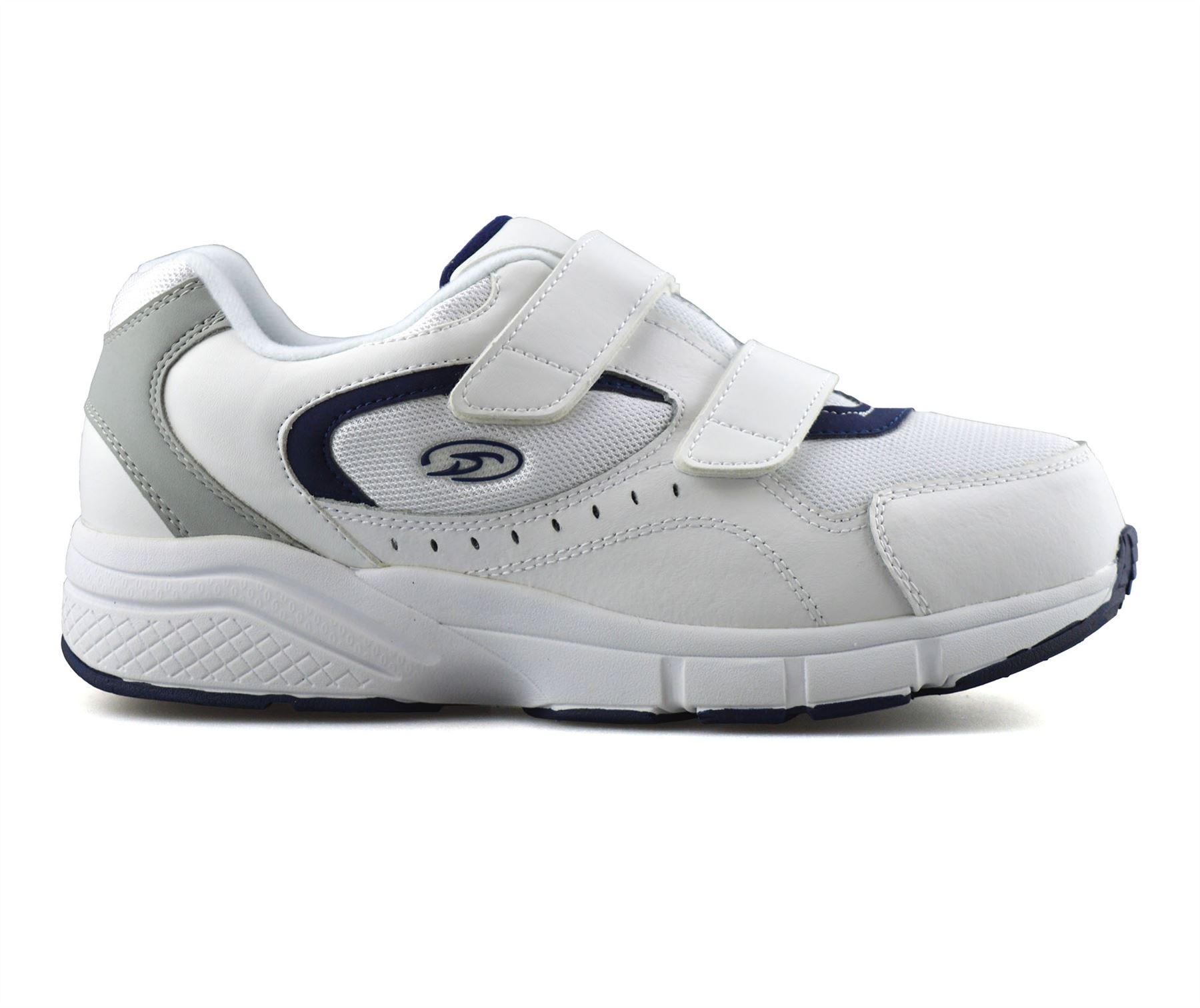 Mens-Dr-Scholls-Wide-Fit-Leather-Casual-Walking-Gym-Comfort-Trainers-Shoes-Size thumbnail 10