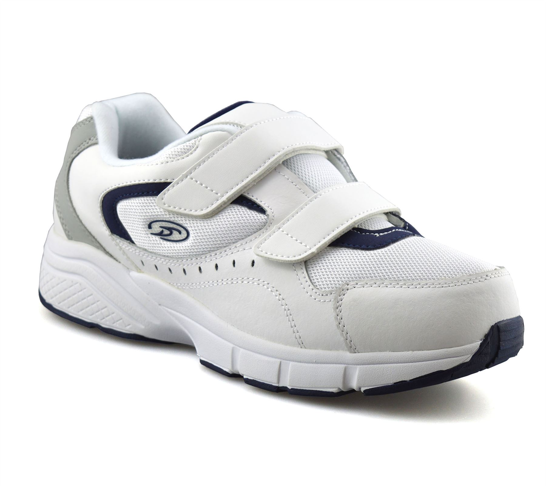 Mens-Dr-Scholls-Wide-Fit-Leather-Casual-Walking-Gym-Comfort-Trainers-Shoes-Size thumbnail 9