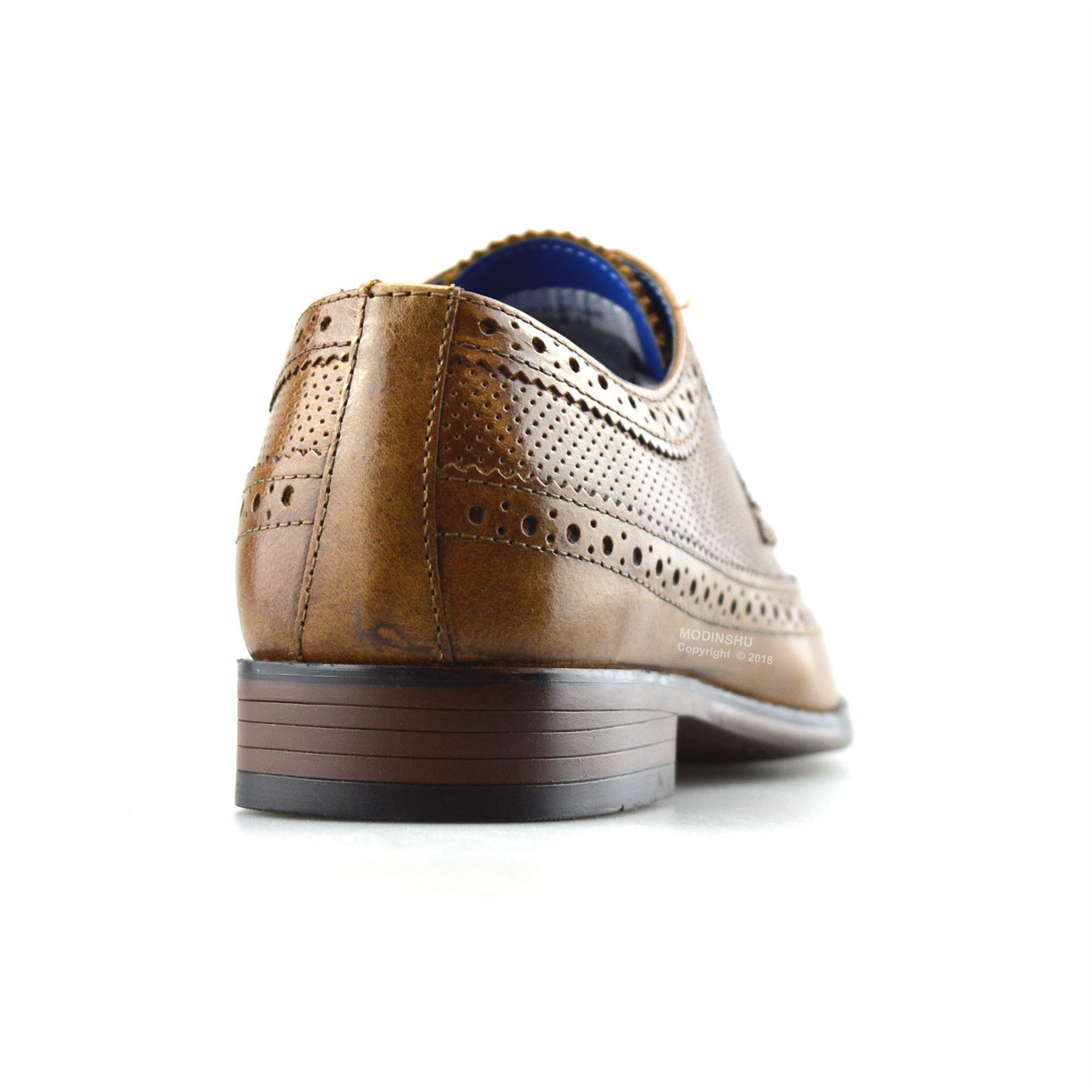 Mens-Leather-Brogues-Smart-Casual-Formal-Office-Lace-Up-Oxford-Brogue-Shoes-Size thumbnail 14