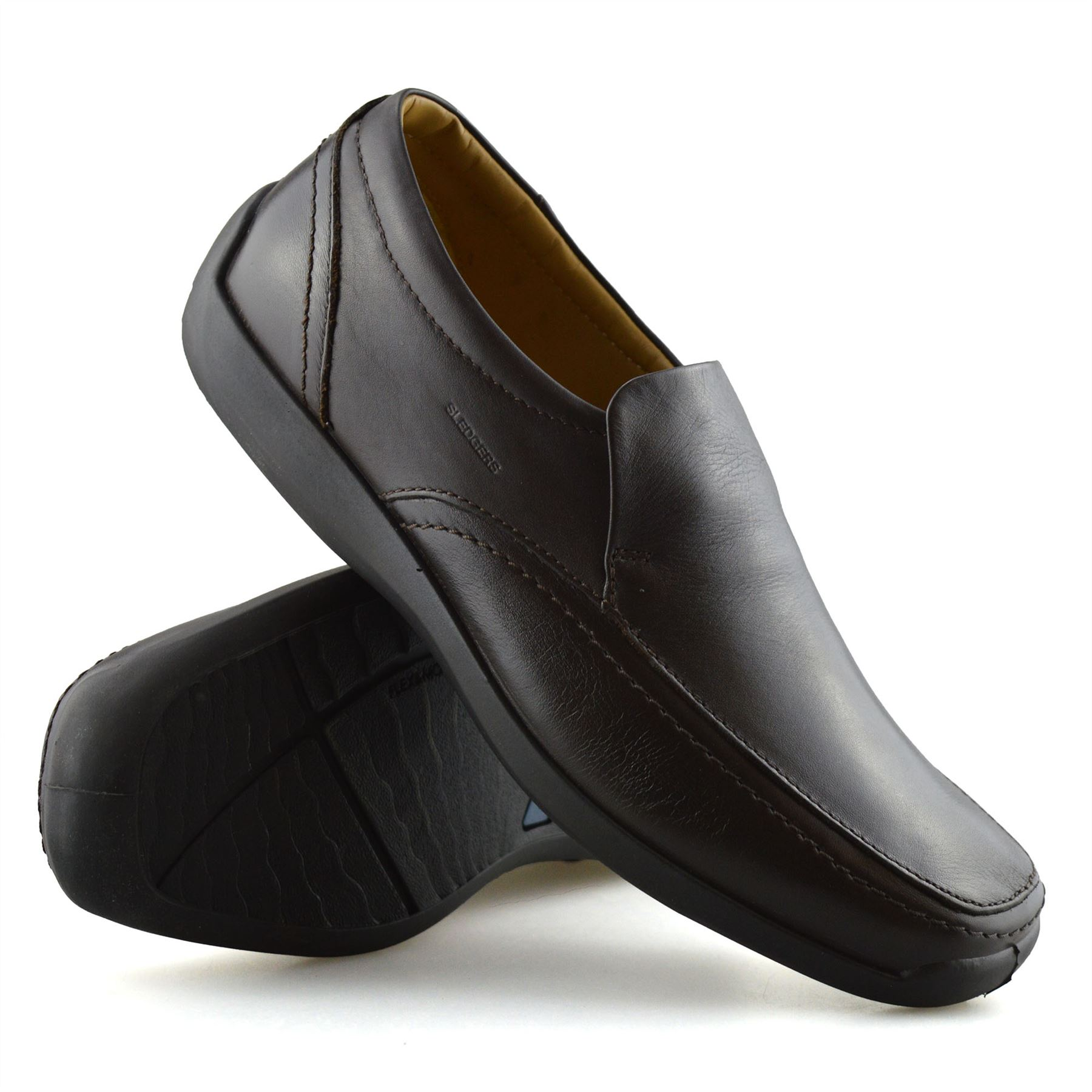 Mens-New-Leather-Casual-Slip-On-Walking-Loafers-Moccasin-Driving-Boat-Shoes-Size thumbnail 11