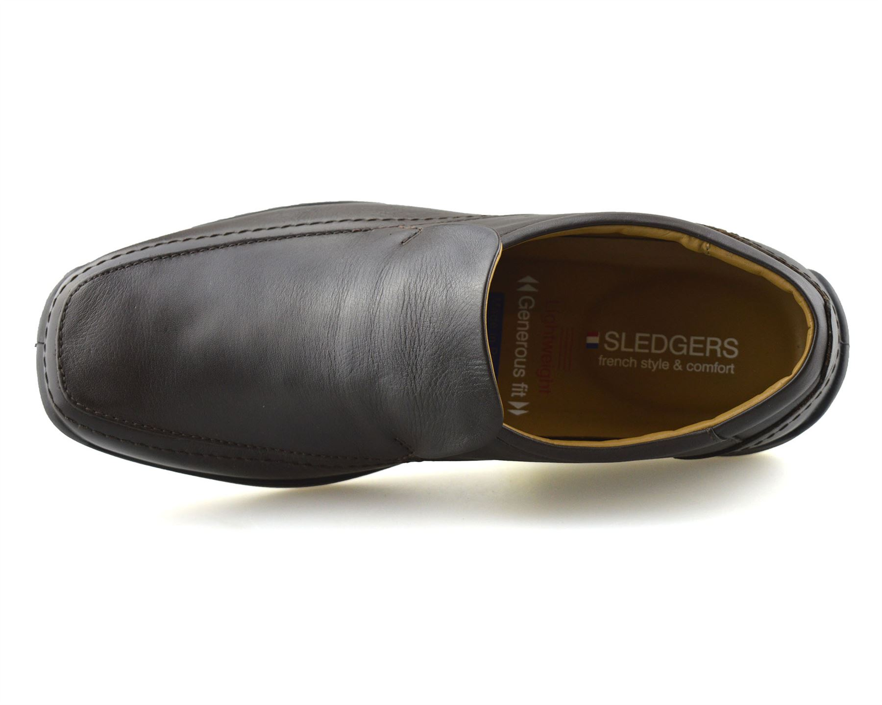 Mens-New-Leather-Casual-Slip-On-Walking-Loafers-Moccasin-Driving-Boat-Shoes-Size thumbnail 10