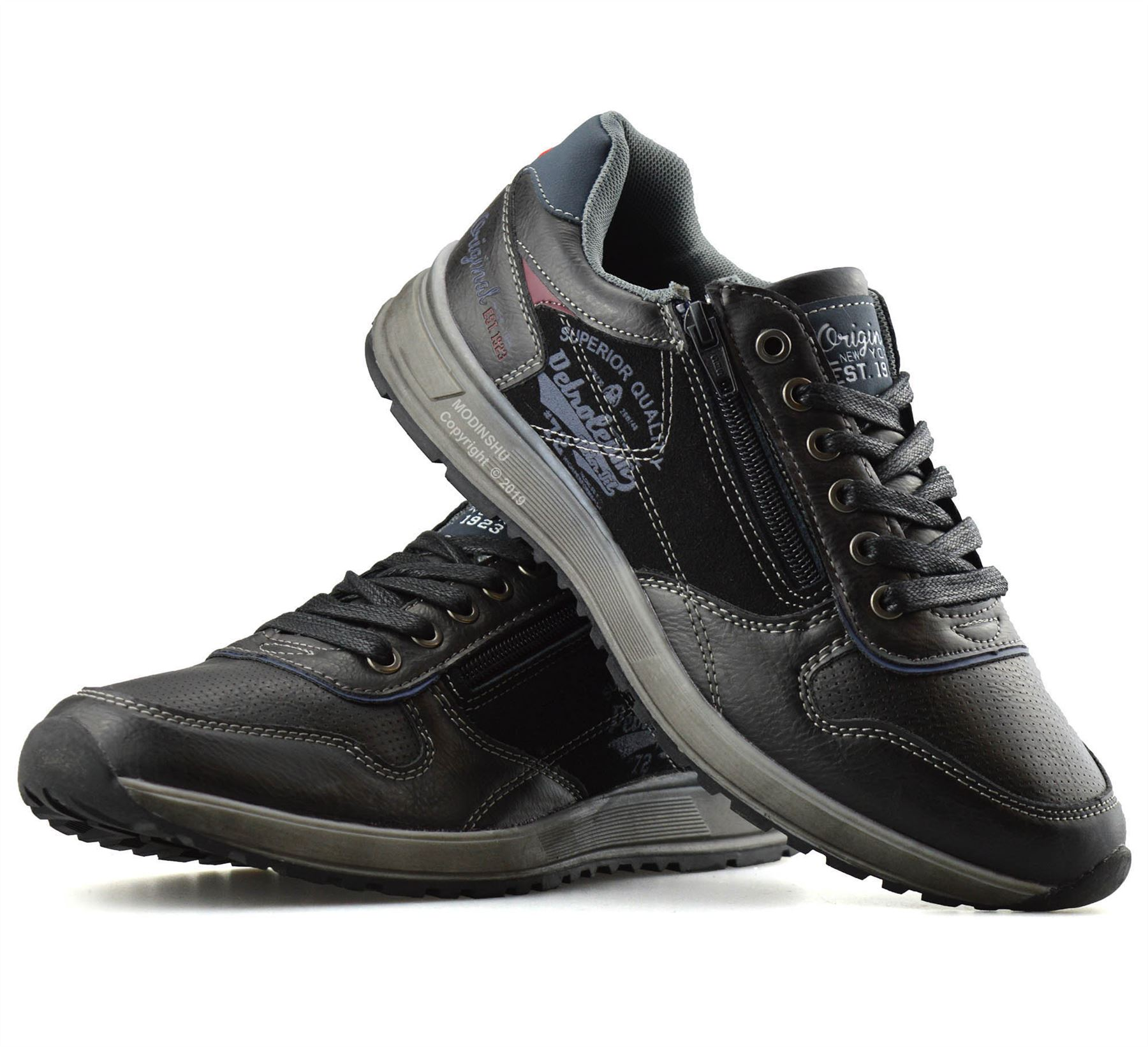 Mens-Casual-Zip-Lace-Up-Walking-Running-Hiking-Sports-Gym-Trainers-Shoes-Size thumbnail 12