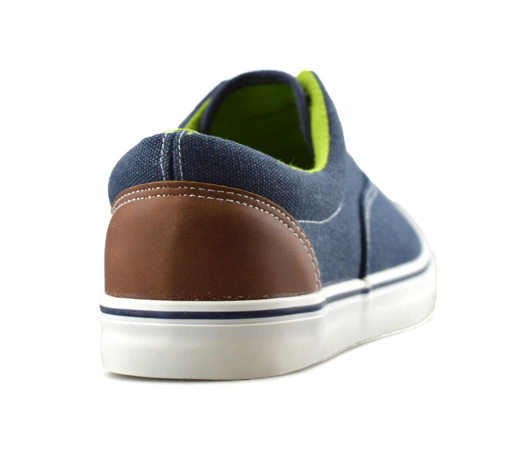 Mens-Casual-Flat-Lace-Up-Canvas-Skate-Pumps-Walking-Plimsolls-Trainers-Shoe-Size thumbnail 14