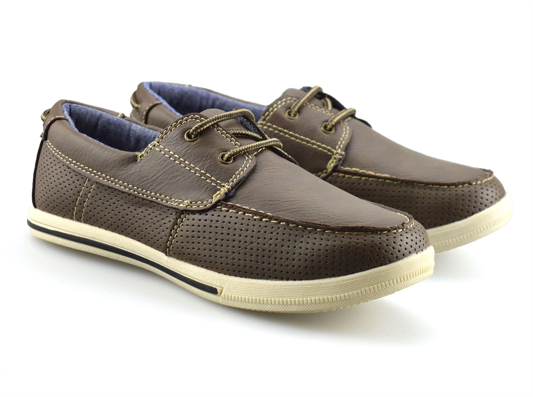 Boys-Kids-Casual-Summer-Lace-Up-Smart-Walking-School-Trainers-Boat-Shoes-Size thumbnail 11