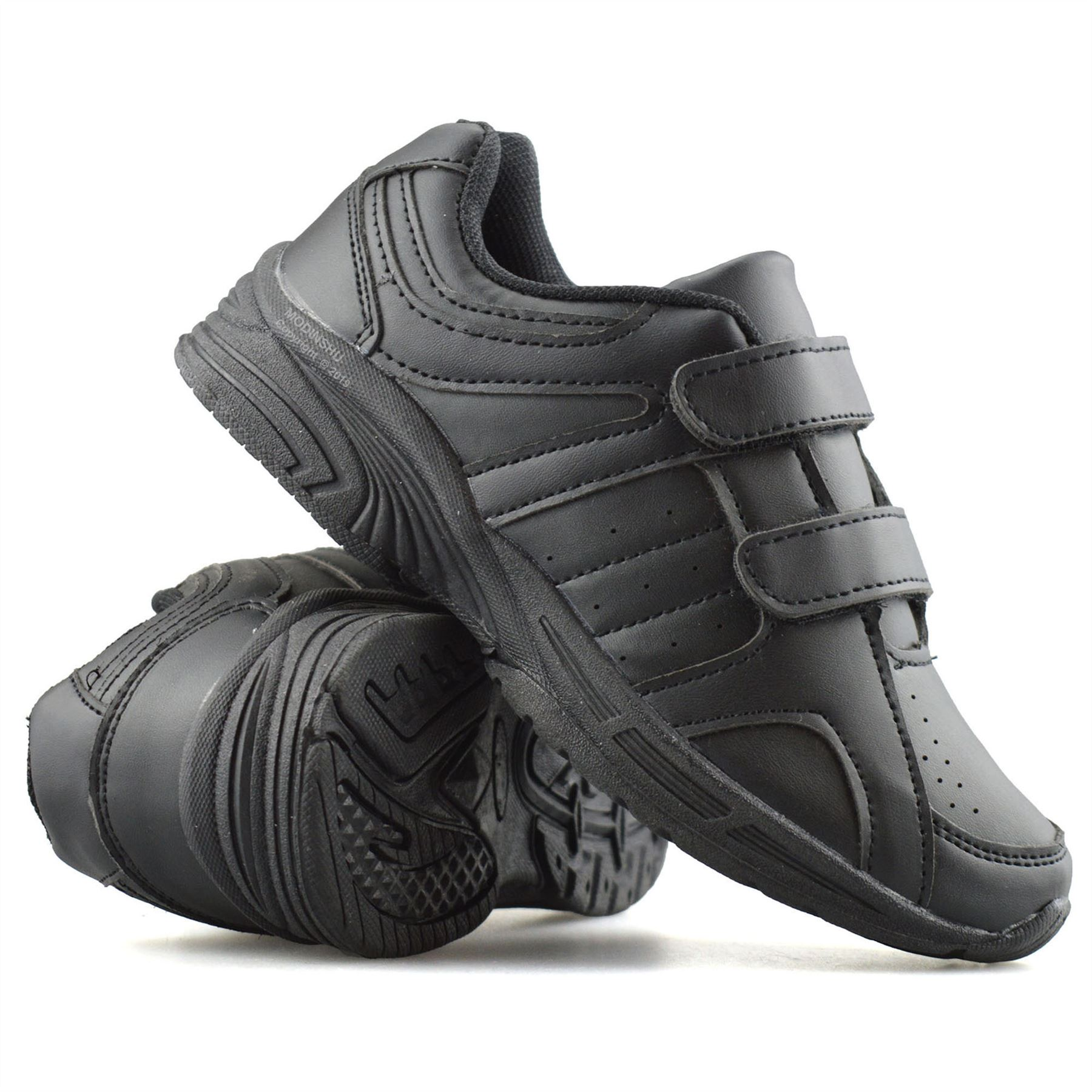 Boys-Kids-New-Formal-Smart-Casual-Touch-Strap-Back-To-School-Trainers-Shoes-Size thumbnail 12