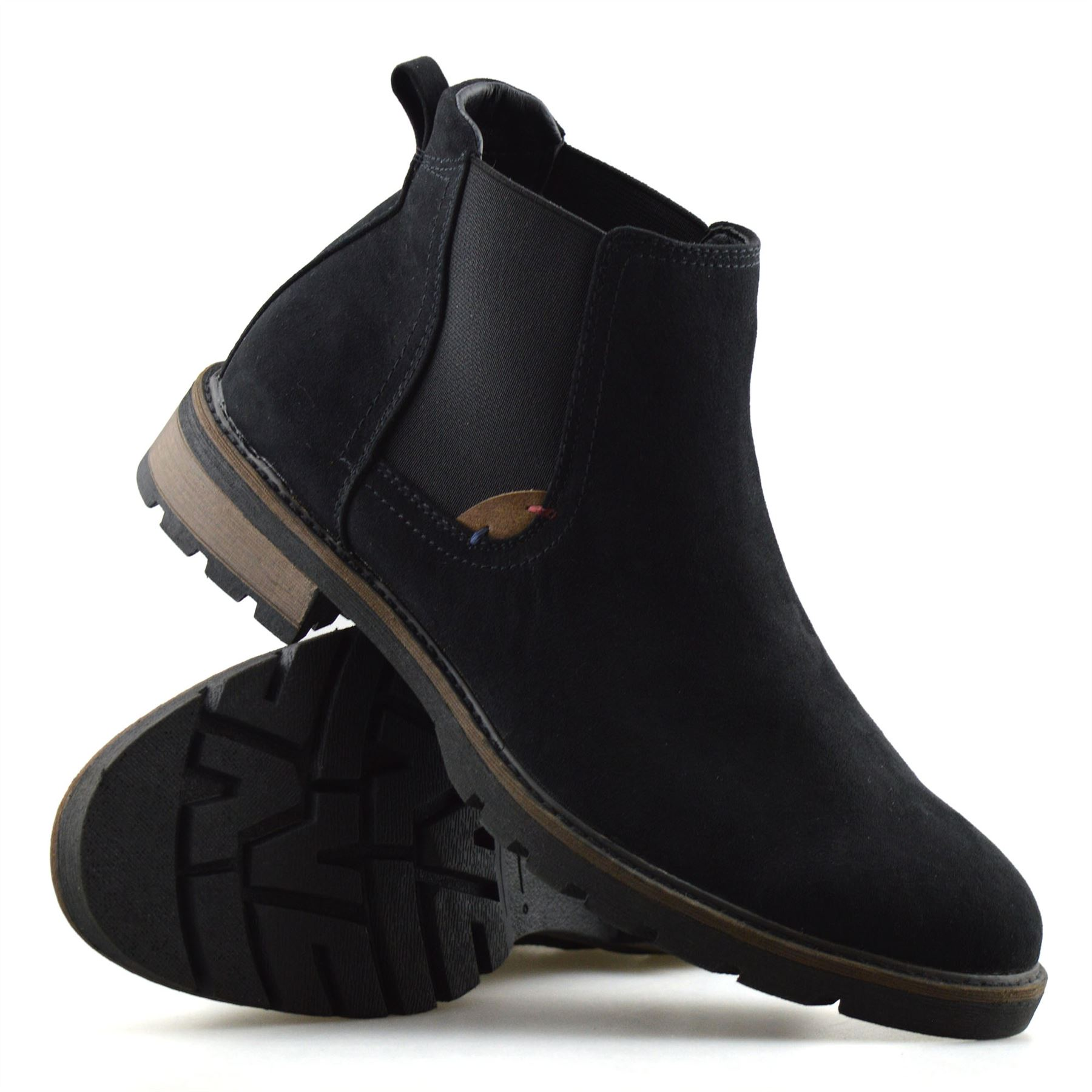Mens-New-Smart-Formal-Chelsea-Dealer-Casual-Slip-On-Work-Ankle-Boots-Shoes-Size thumbnail 12