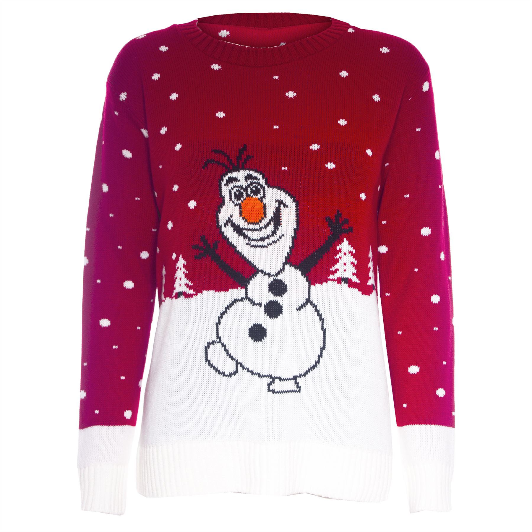 Olaf Christmas Jumper Knitting Pattern : Womens Novelty Rudolf Olaf Ladies Frozen Knit Christmas Sweater Jumper Plus S...