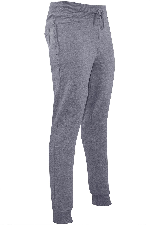 Polar-Para-hombre-Cintura-Elastica-Slim-Fit-Pantalones-De-Chandal-Jog-Pista-Pantalon-gymming miniatura 4