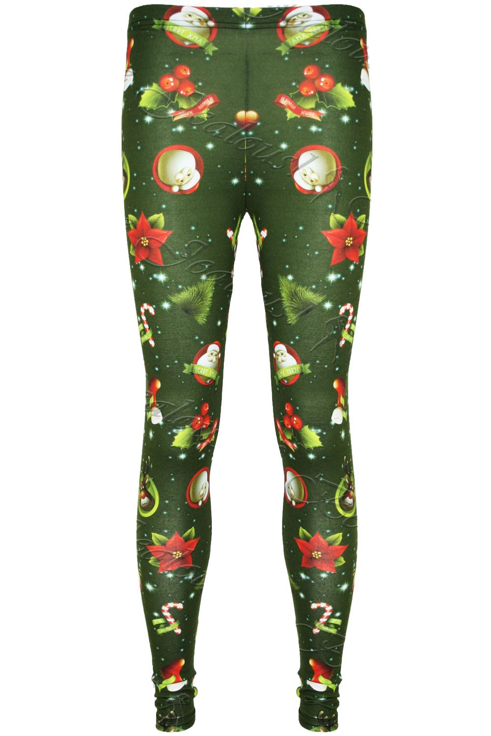 0bb1428d91ff7a Kids Girls Christmas Leggings Snowman Tree Stretchy Full Ankle ...