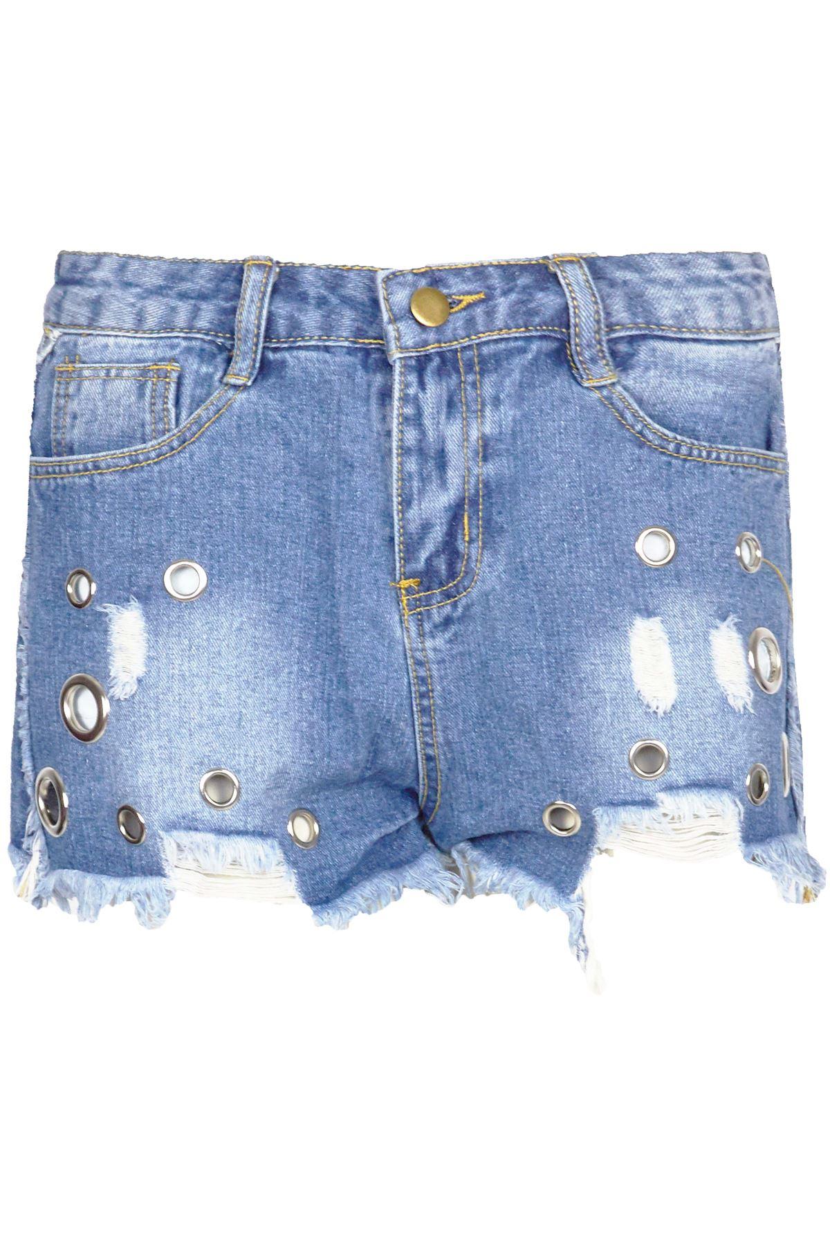 damen frauen verblichen jeans zerrissen roh kanten l cher sen denim kurze hose ebay. Black Bedroom Furniture Sets. Home Design Ideas