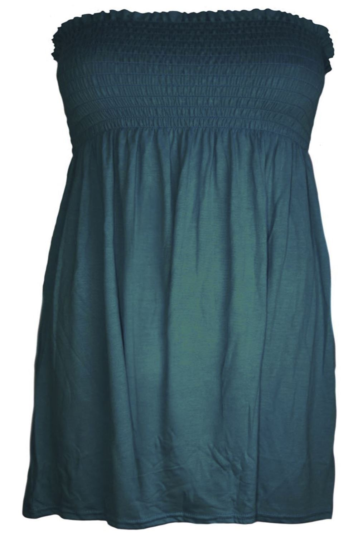 12-14 Black, UK M//L New Womens Ladies Sheering Top Strapless Bandeau Dress Top Jersey Ladies Plus Size Boobtube Top Dress