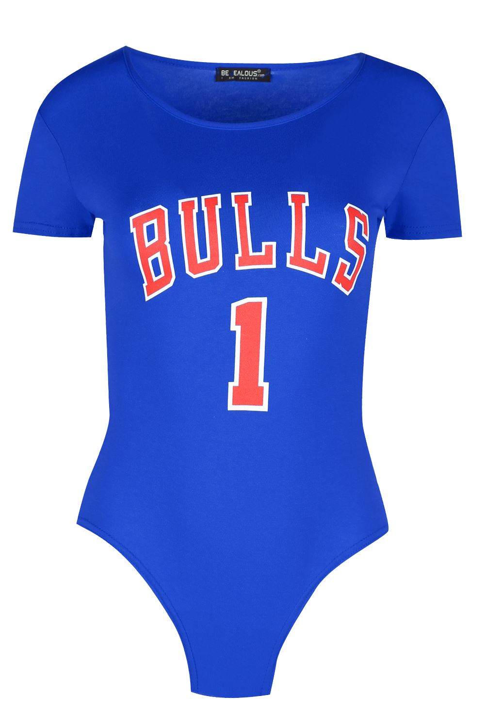 Womens American BULL 1 Sports Bodysuit Jersey Ladies Plain Round Neck Leotard Clothes, Shoes & Accessories