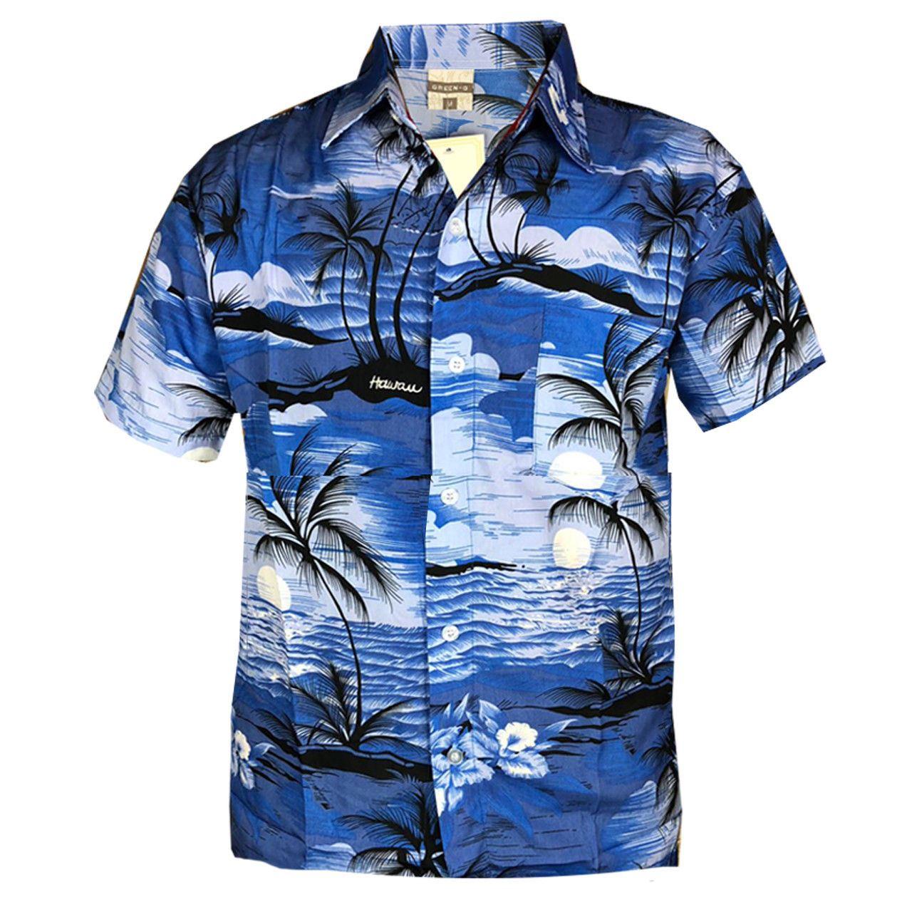 Mens-Hawaiian-Stag-Beach-Hawaii-Aloha-Party-Summer-Holiday-Casual-Fancy-Shirt thumbnail 4