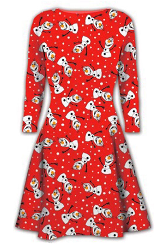 Women-Ladies-Kids-Girls-Xmas-Santa-Gifts-Christmas-Print-Skater-Mini-Swing-Dress thumbnail 48