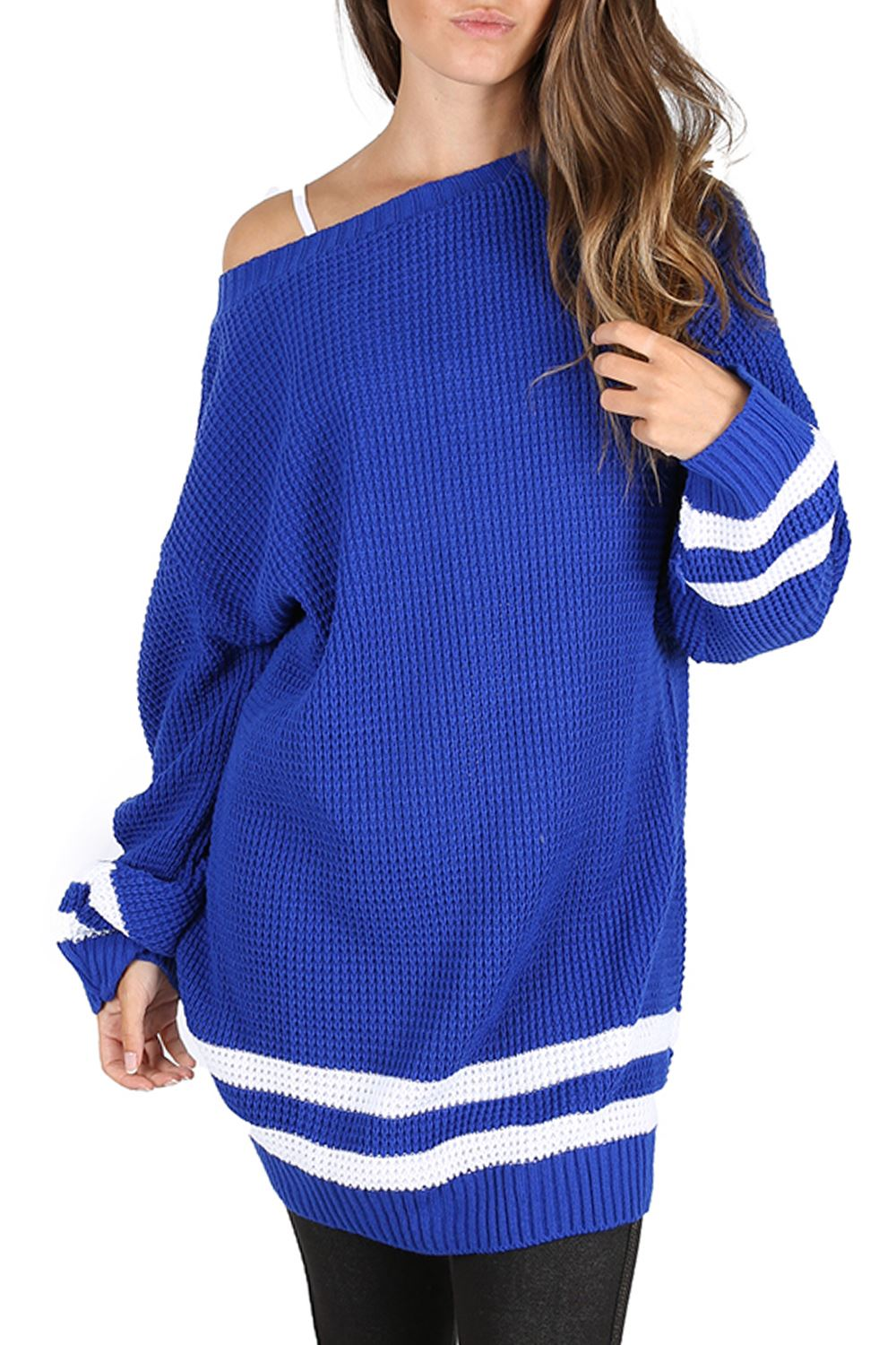 Womens-Oversized-Jumper-Ladies-Dress-Long-Sleeve-Chunky-Knitted-Long-Sweater-Top thumbnail 39