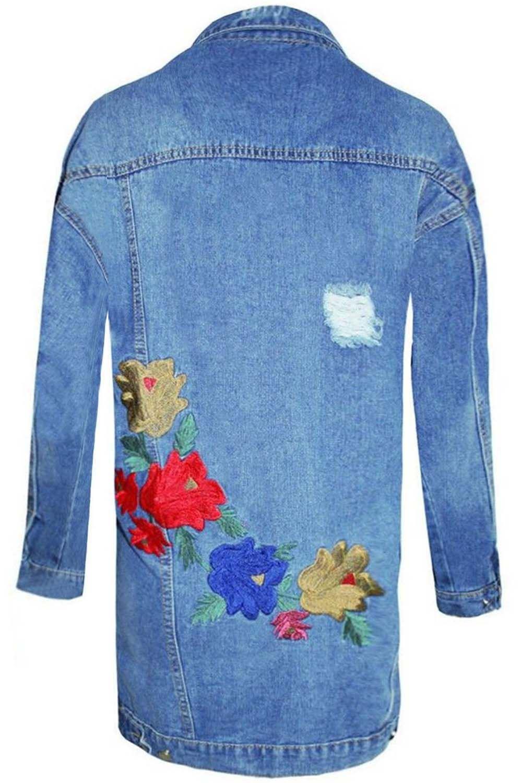 Womens-Ladies-Pockets-Slim-Denim-Jean-Buttons-Down-Coat-Crop-Jacket-Top-Outwear 縮圖 30