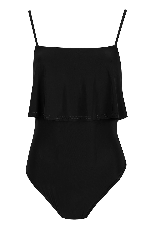Womens-Peplum-Ruffle-Frill-Bodysuit-Ladies-Camisole-Spaghetti-Strap-Leotard-Top