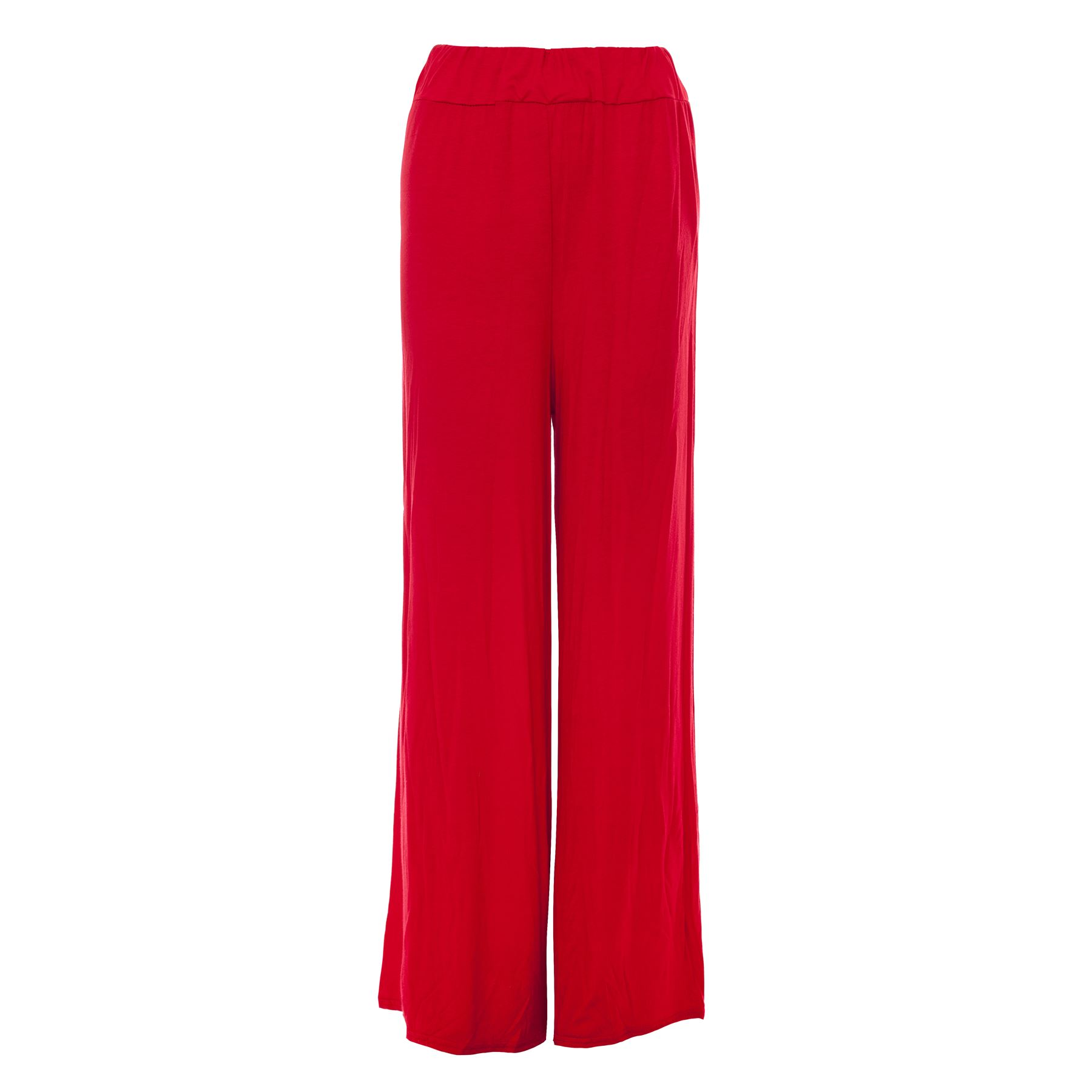8bcc17033af2b Womens Palazzo Wide Leg Trousers Ladies Plain Flared Legging Pant Plus Size  8-26