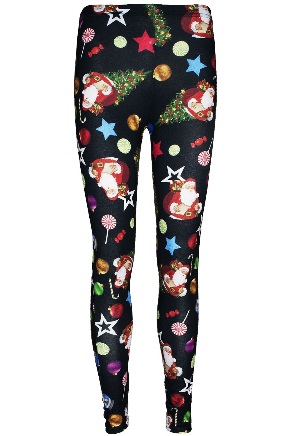 7728df1dbc2 Womens Ladies Legging Red Nose Rudolph Reindeer Santa Wall Christmas ...