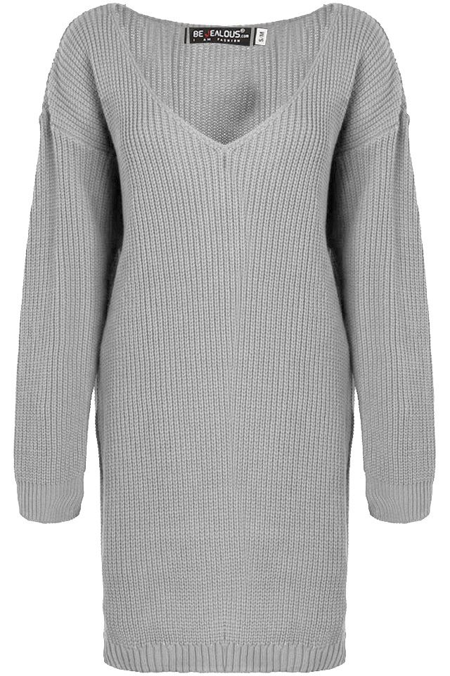 Womens-Oversized-Jumper-Ladies-Dress-Long-Sleeve-Chunky-Knitted-Long-Sweater-Top thumbnail 58