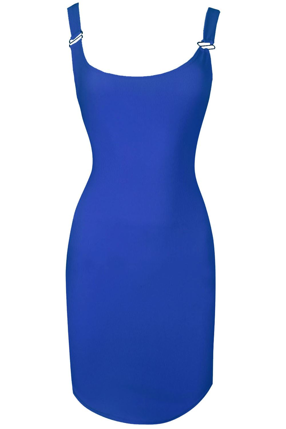 Ladies-Womens-Bodycon-Tunic-Dress-Pinafore-Ribbed-Curved-Hem-Braces-Plus-Size