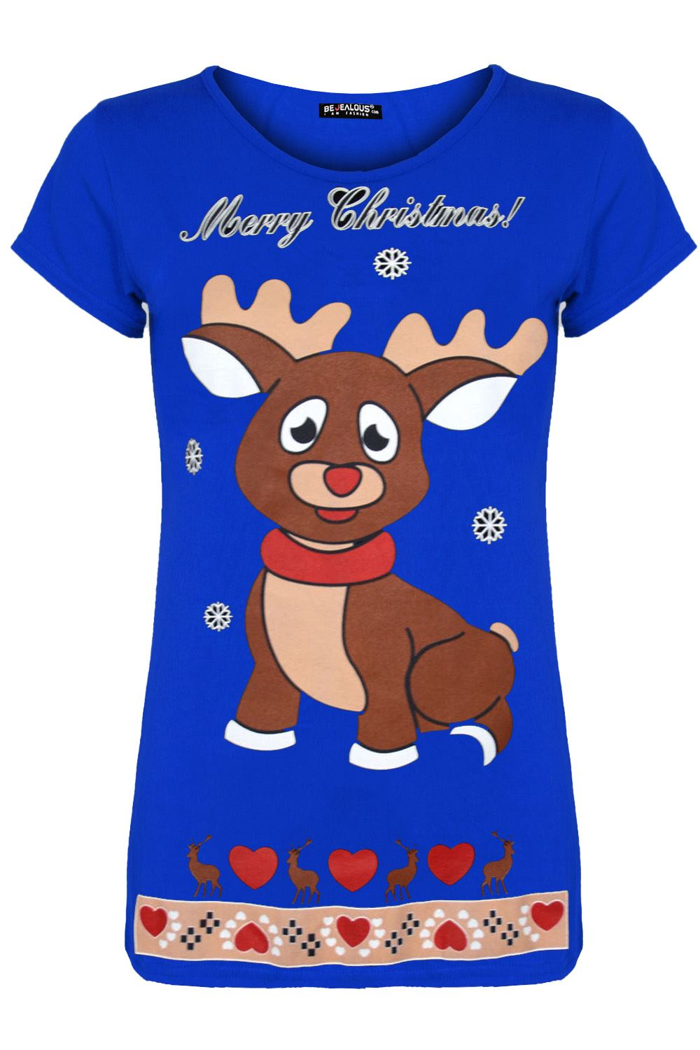 thumbnail 5 - Womens-Christmas-Xmas-Pullover-Elf-Candystick-Snowflakes-Ladies-T-Shirt-Tee-Top