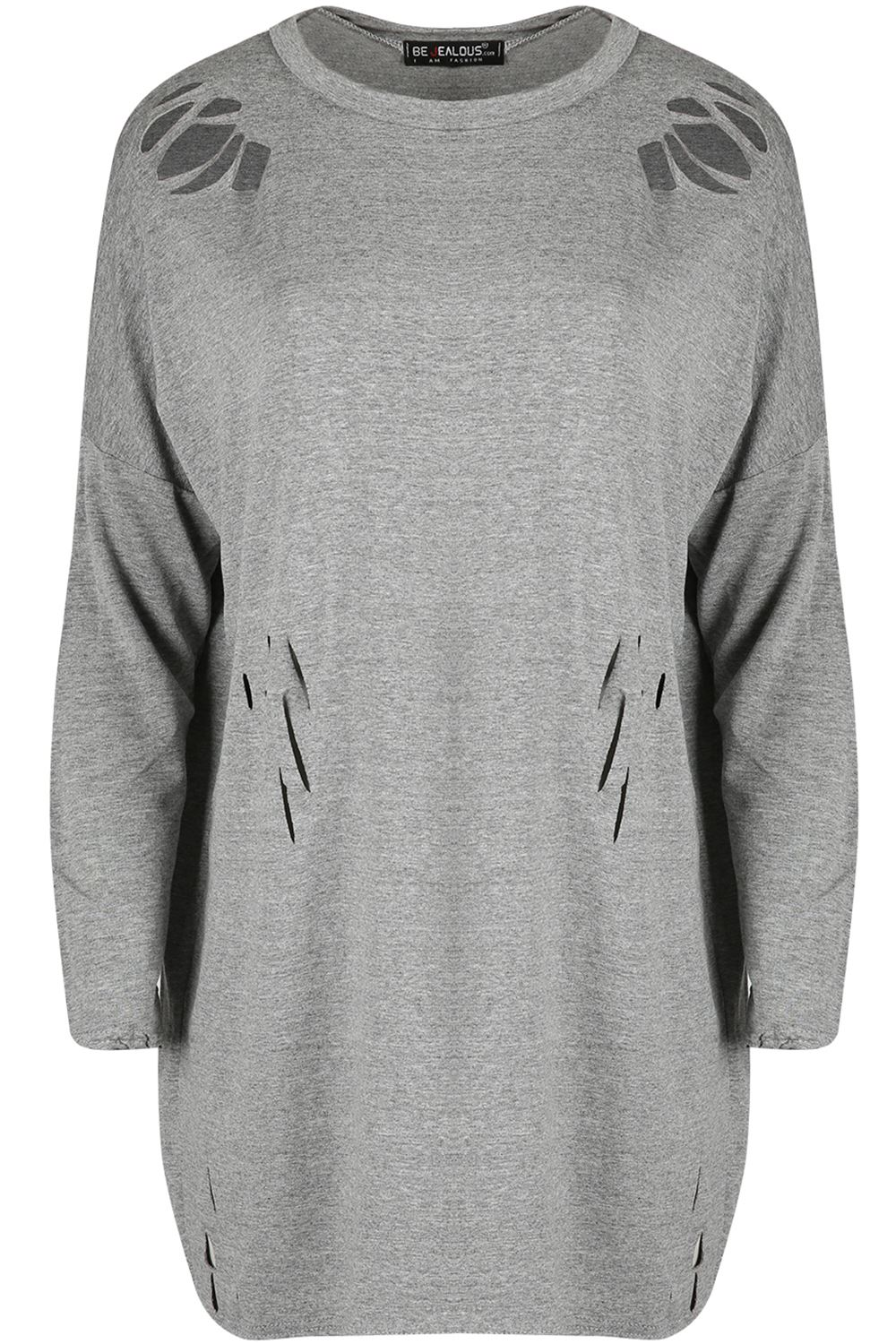 Womens Ladies Knit Destroyed Distressed Rip Baggy Oversized ...